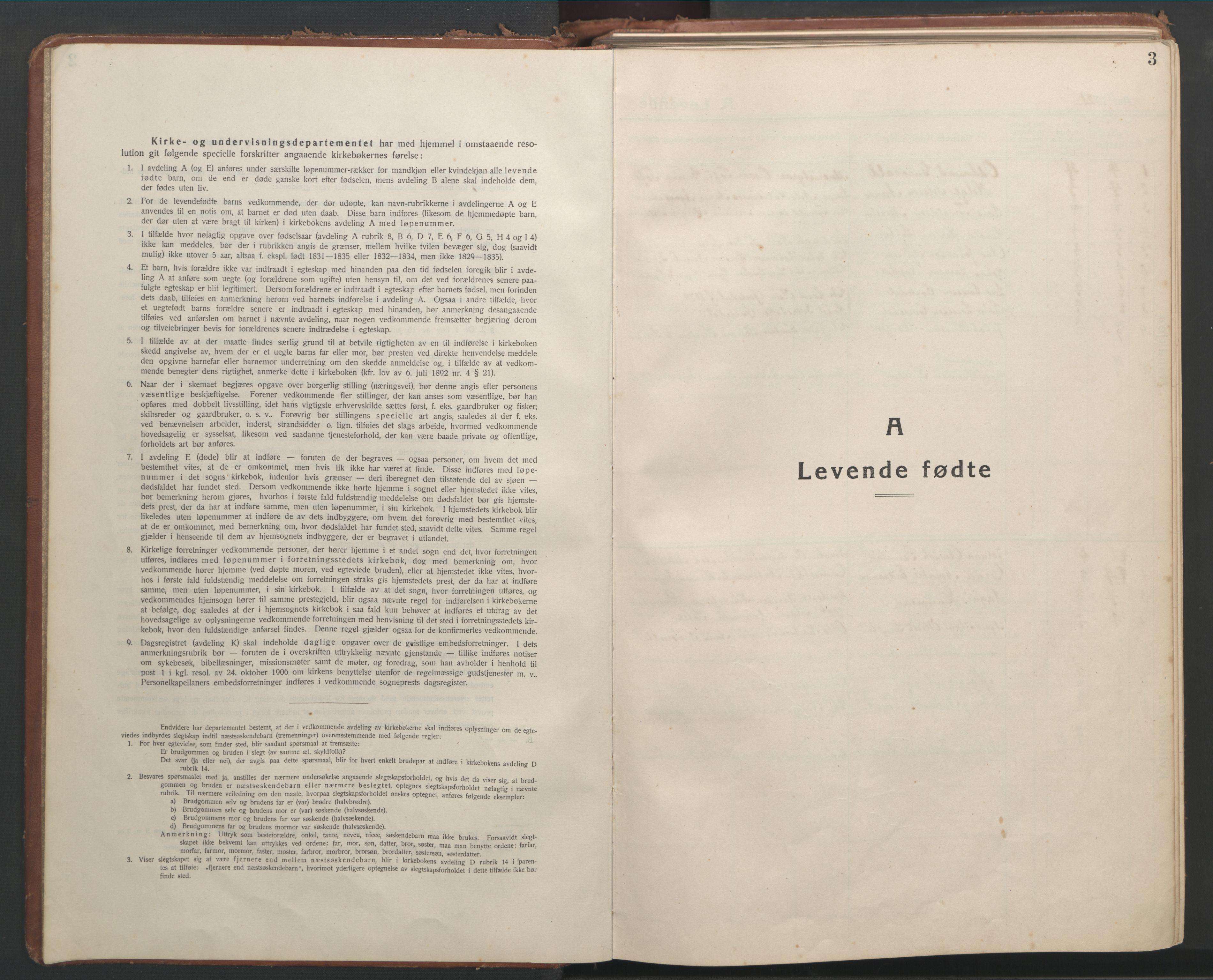 SAT, Ministerialprotokoller, klokkerbøker og fødselsregistre - Møre og Romsdal, 541/L0548: Klokkerbok nr. 541C03, 1921-1960, s. 3