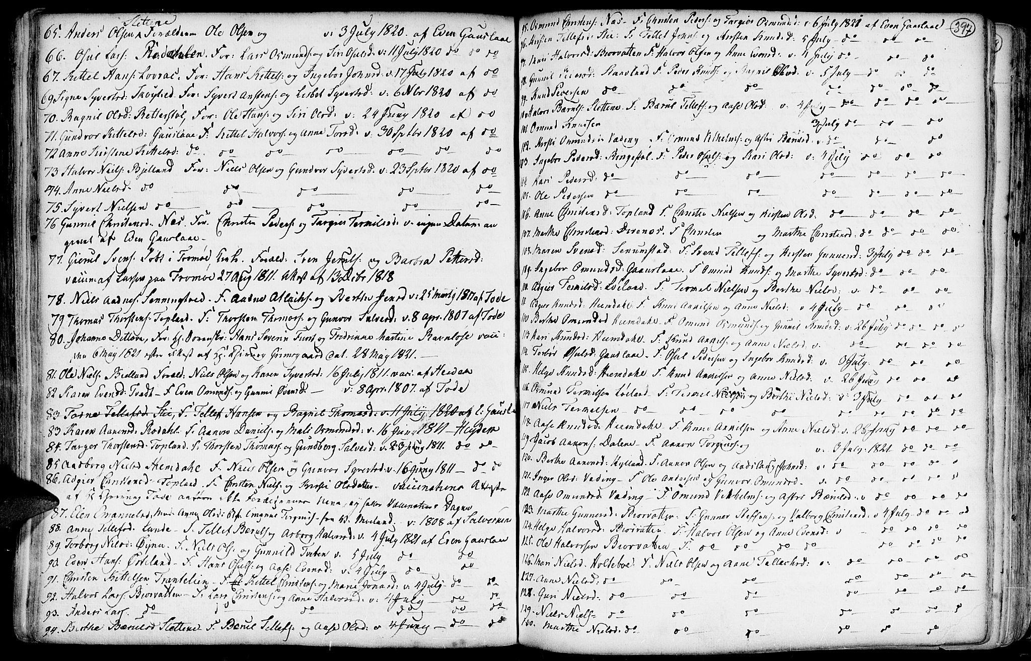 SAK, Hommedal sokneprestkontor, F/Fa/Fab/L0002: Ministerialbok nr. A 2 /3, 1740-1821, s. 397