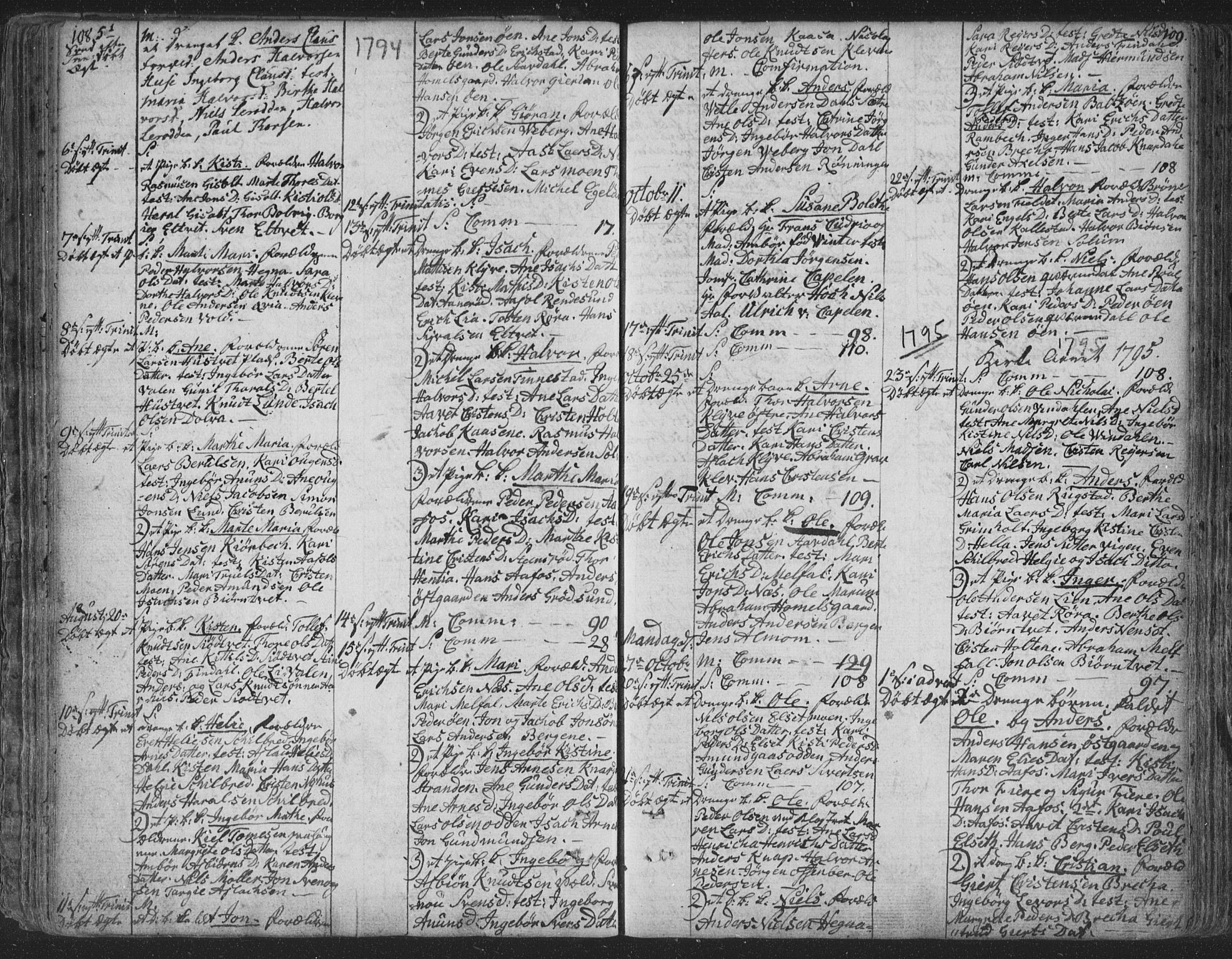 SAKO, Solum kirkebøker, F/Fa/L0003: Ministerialbok nr. I 3, 1761-1814, s. 108-109