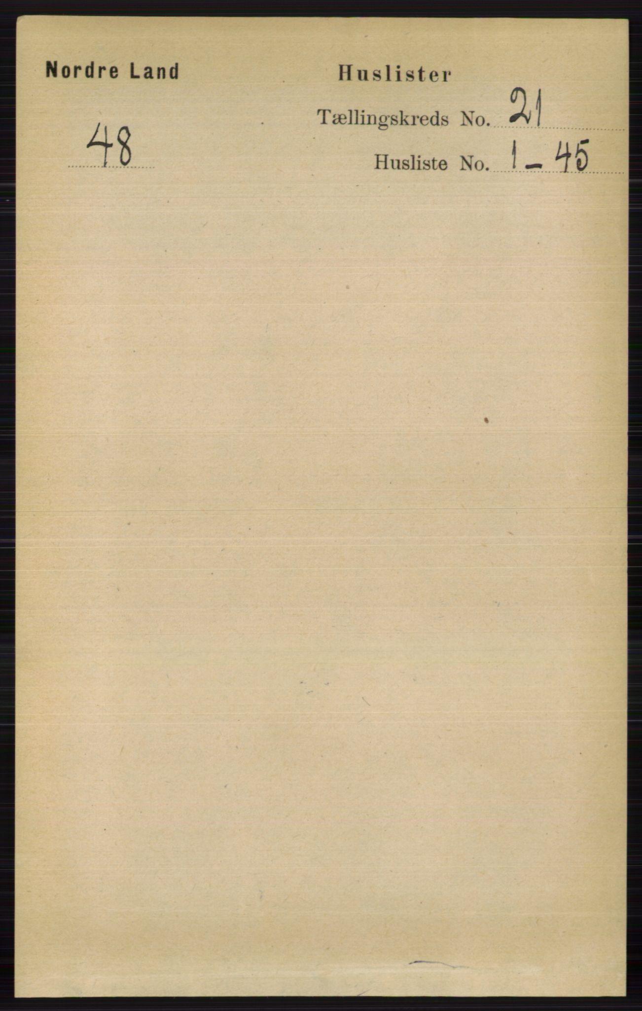 RA, Folketelling 1891 for 0538 Nordre Land herred, 1891, s. 5220
