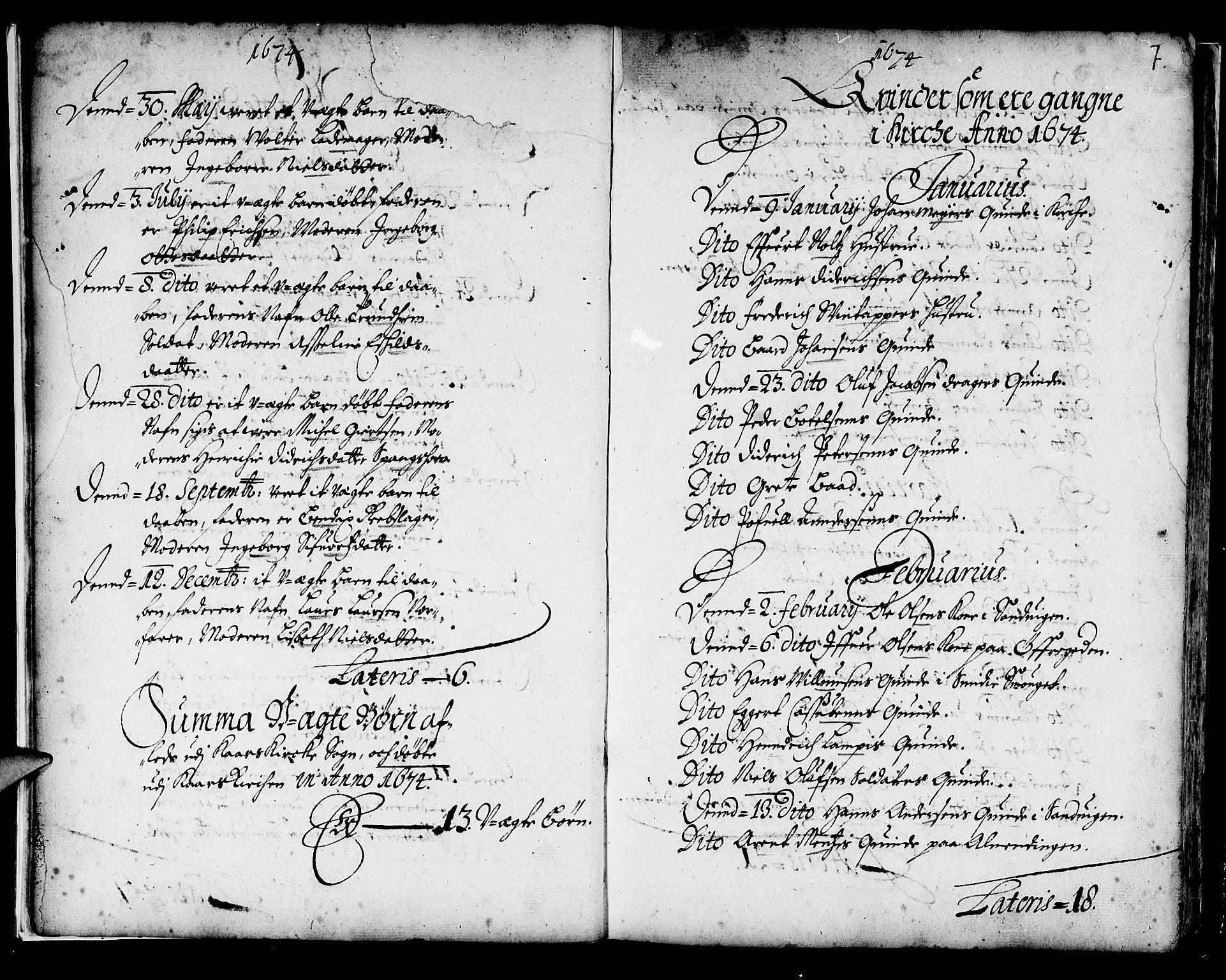 SAB, Korskirken Sokneprestembete, H/Haa/L0001: Ministerialbok nr. A 1, 1674-1688, s. 7