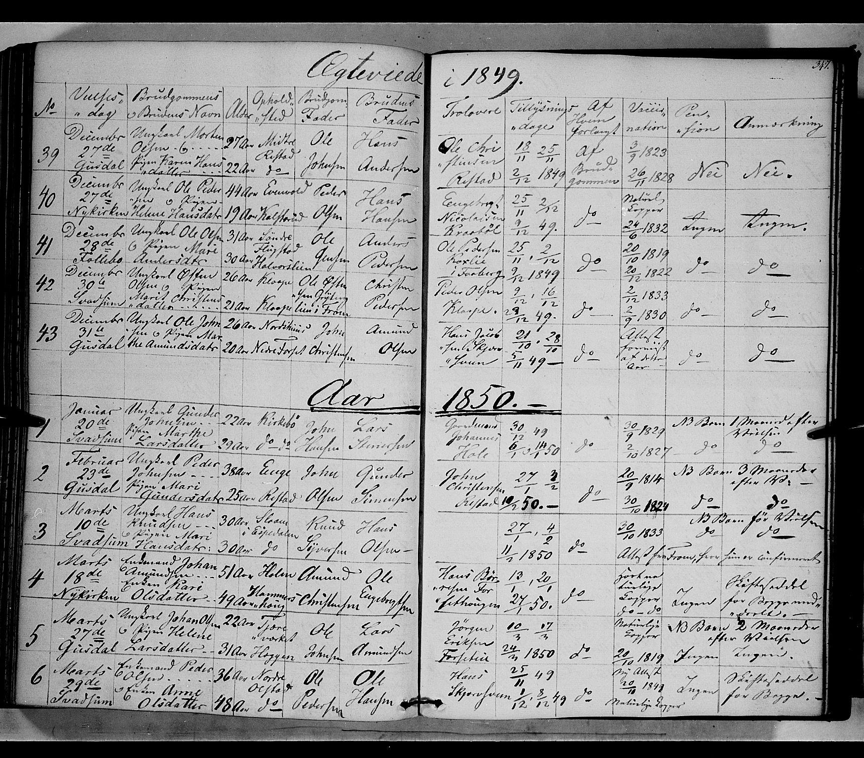 SAH, Gausdal prestekontor, Ministerialbok nr. 7, 1840-1850, s. 347