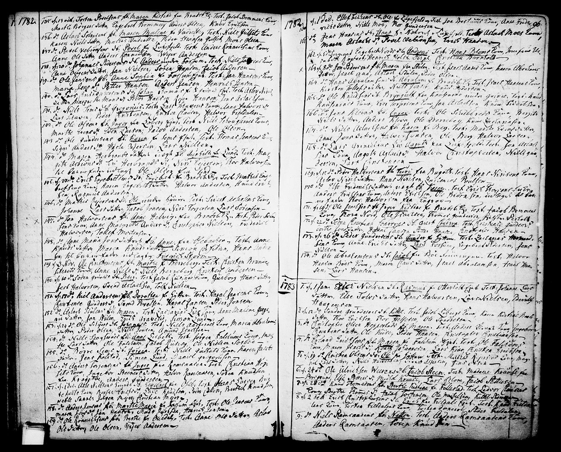 SAKO, Gjerpen kirkebøker, F/Fa/L0002: Ministerialbok nr. 2, 1747-1795, s. 96