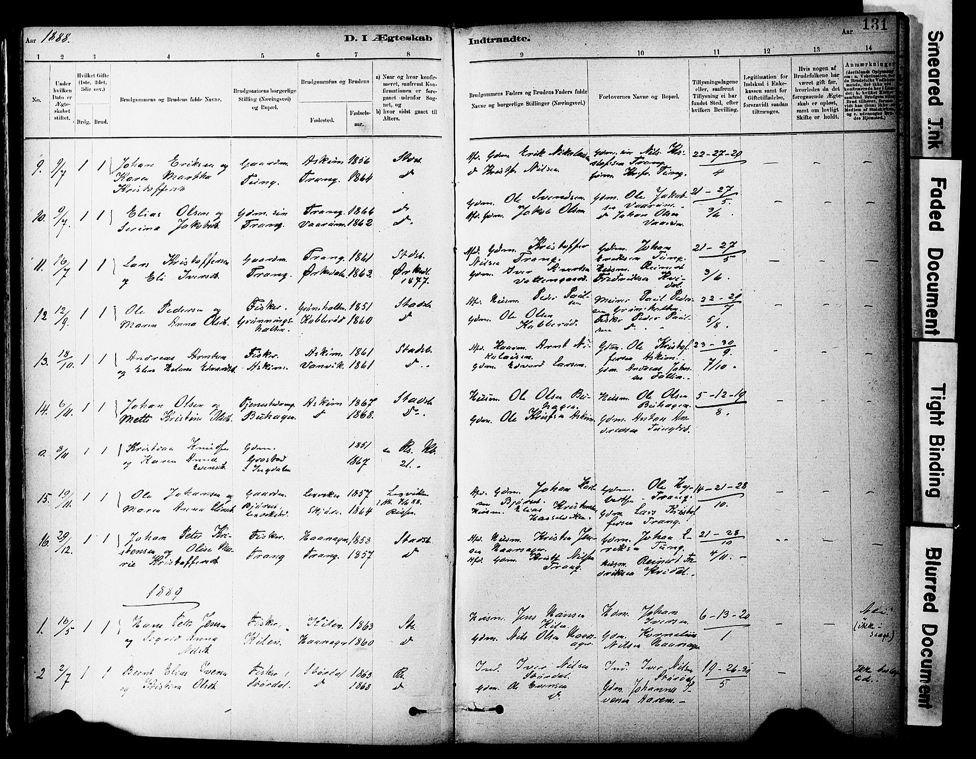 SAT, Ministerialprotokoller, klokkerbøker og fødselsregistre - Sør-Trøndelag, 646/L0615: Ministerialbok nr. 646A13, 1885-1900, s. 131