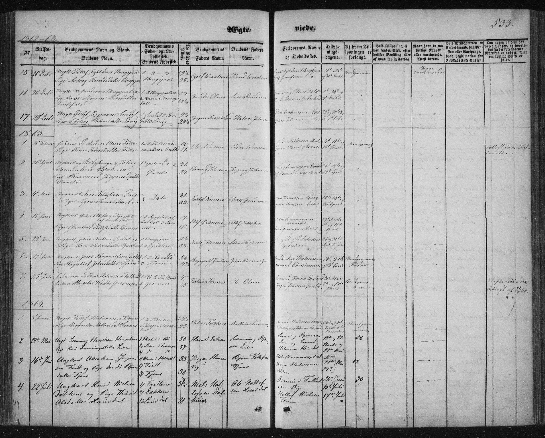 SAKO, Nissedal kirkebøker, F/Fa/L0003: Ministerialbok nr. I 3, 1846-1870, s. 532-533