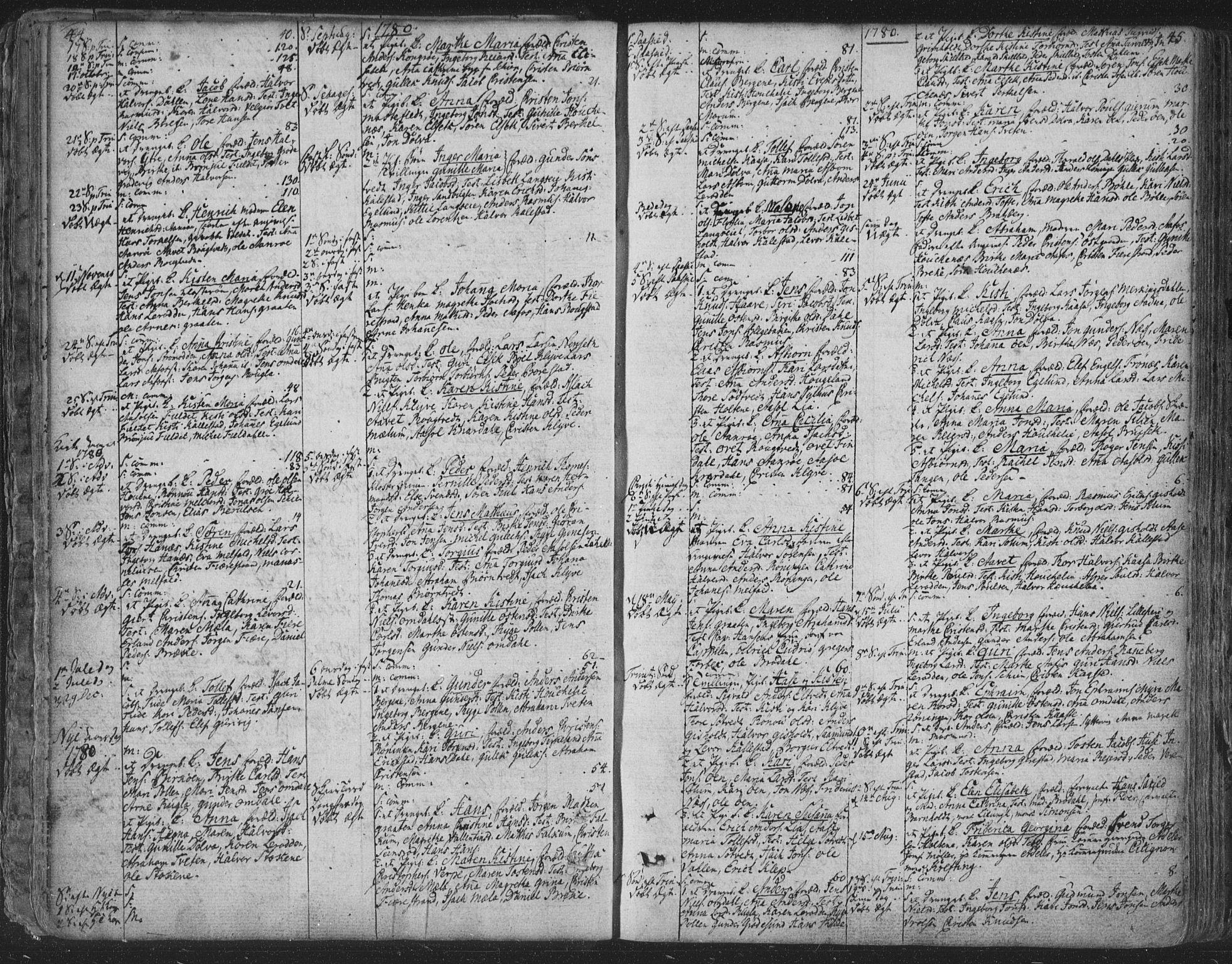 SAKO, Solum kirkebøker, F/Fa/L0003: Ministerialbok nr. I 3, 1761-1814, s. 44-45