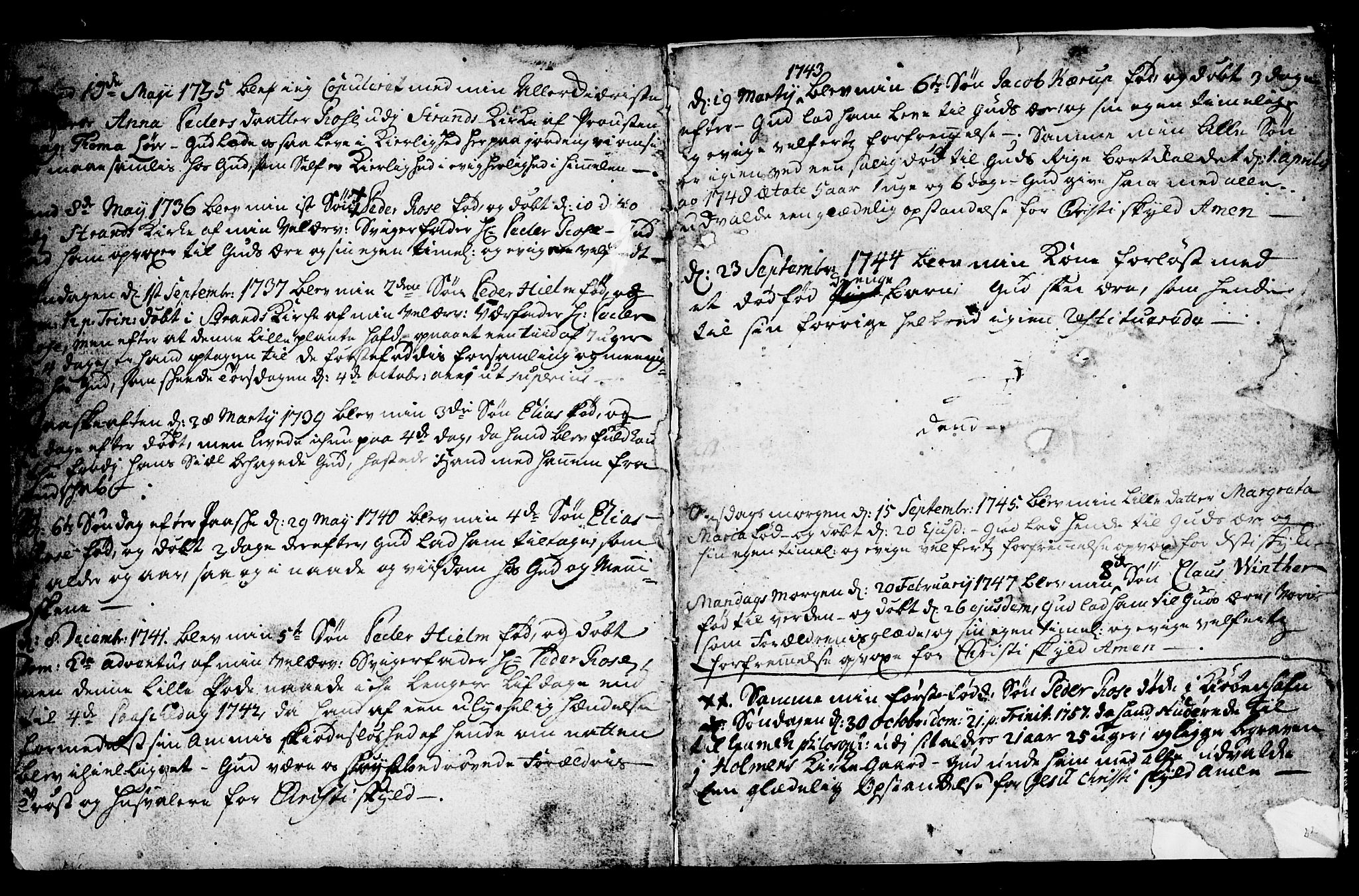 SAST, Strand sokneprestkontor, H/Ha/Haa/L0002: Ministerialbok nr. A 2, 1744-1768