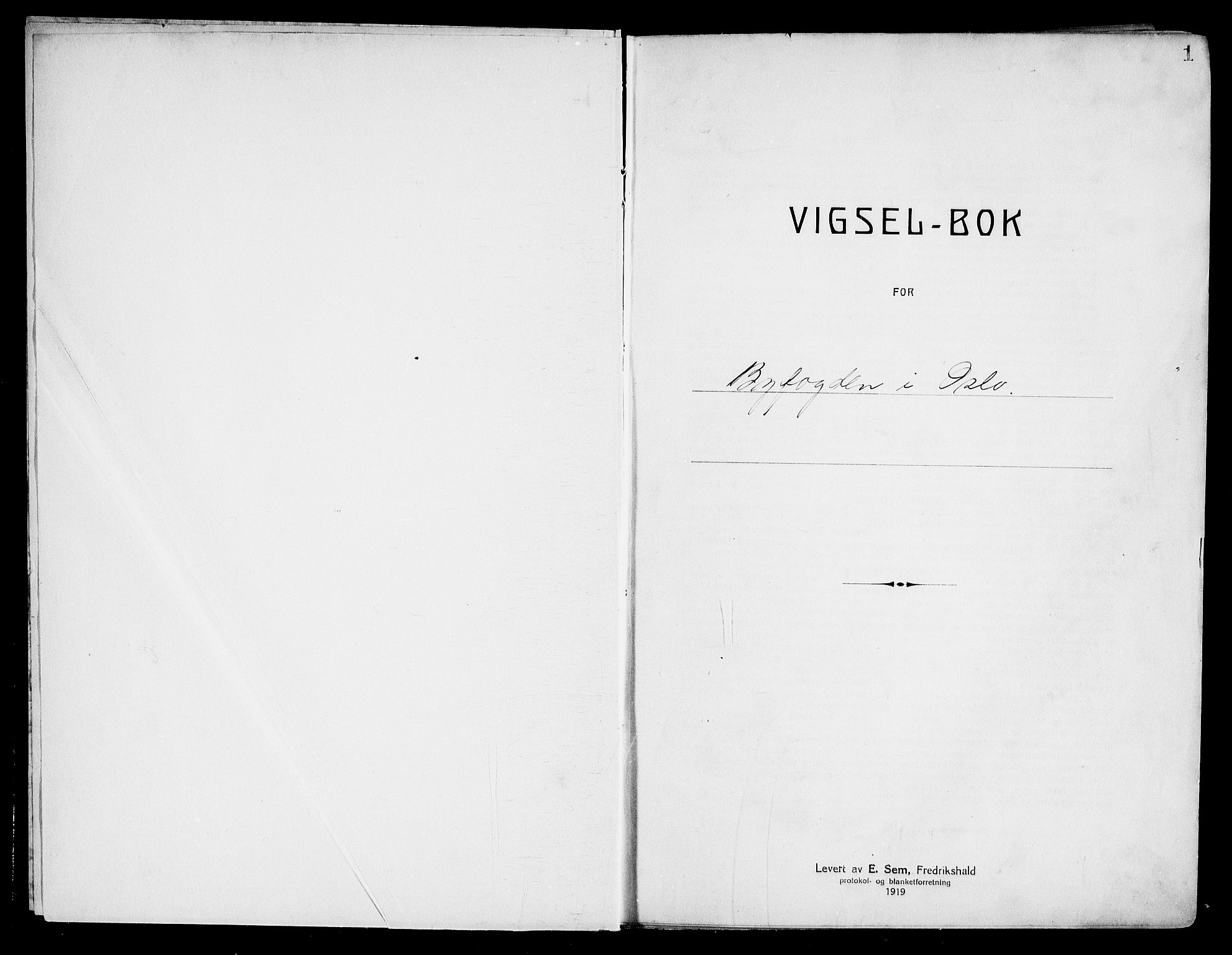 SAO, Oslo byfogd avd. I, L/Lb/Lbb/L0027: Notarialprotokoll, rekke II: Vigsler, 1936-1937, s. 1a