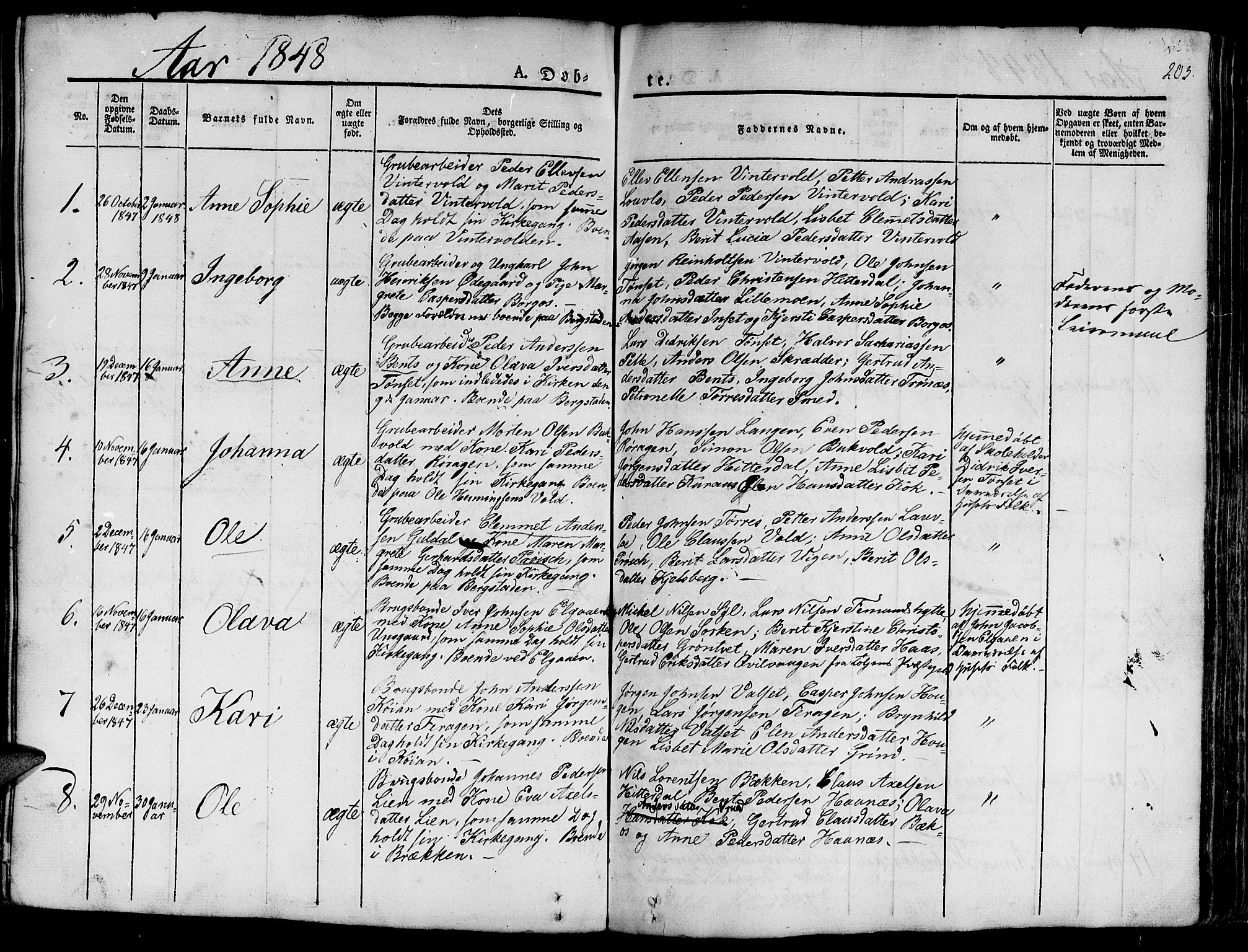 SAT, Ministerialprotokoller, klokkerbøker og fødselsregistre - Sør-Trøndelag, 681/L0938: Klokkerbok nr. 681C02, 1829-1879, s. 203