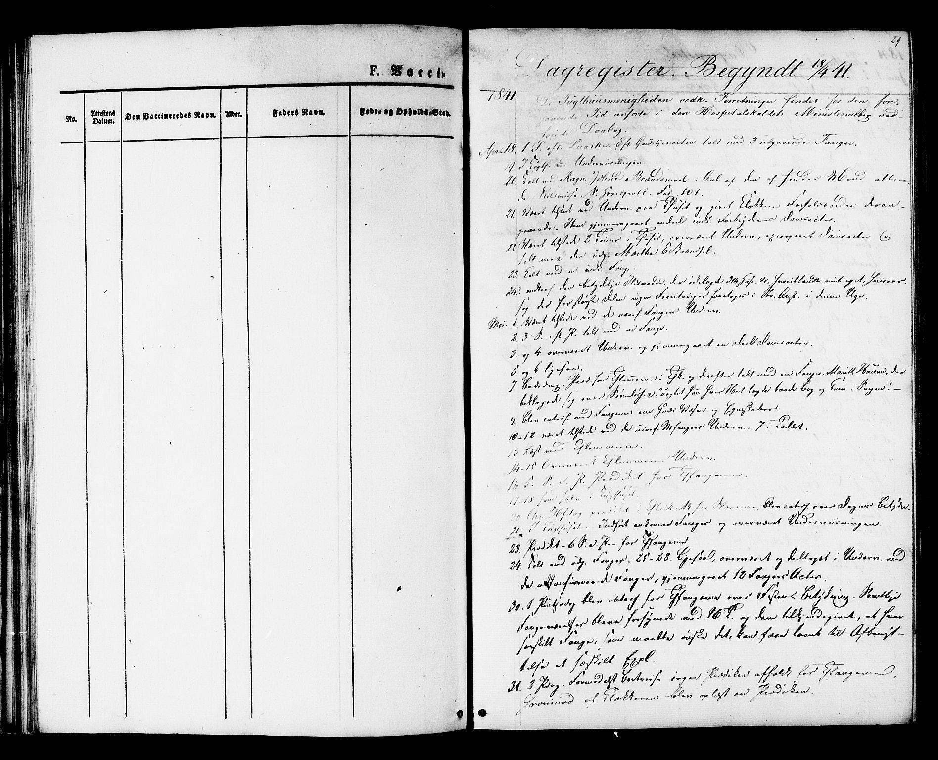 SAT, Ministerialprotokoller, klokkerbøker og fødselsregistre - Sør-Trøndelag, 624/L0480: Ministerialbok nr. 624A01, 1841-1864, s. 29