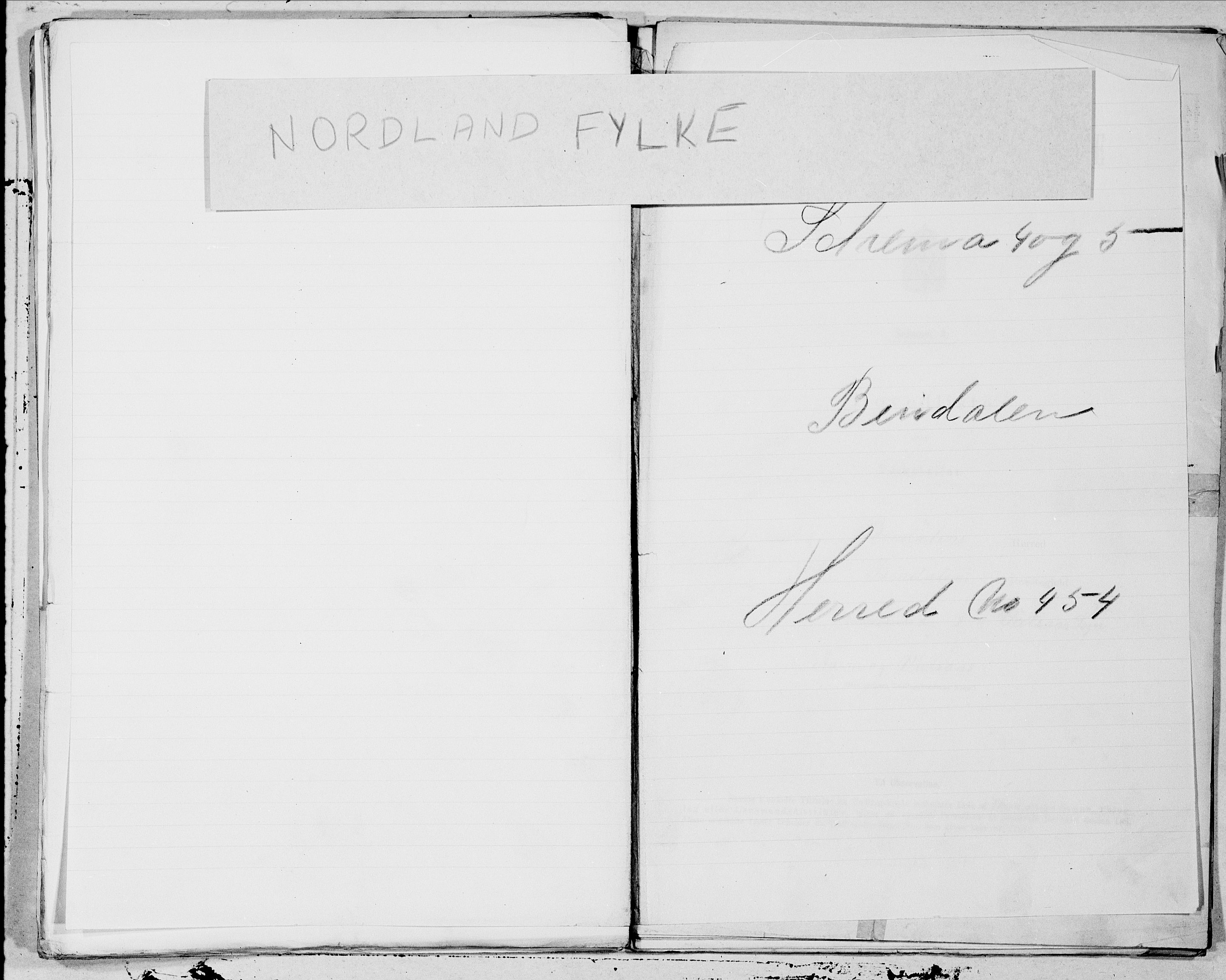 SAT, Folketelling 1900 for 1811 Bindal herred, 1900, s. 1