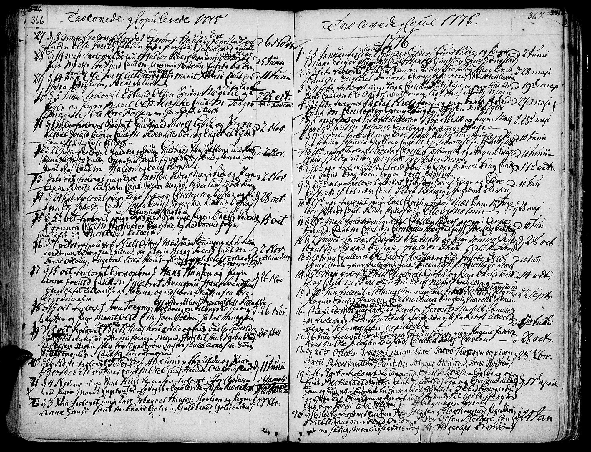 SAH, Ringebu prestekontor, Ministerialbok nr. 2, 1734-1780, s. 366-367