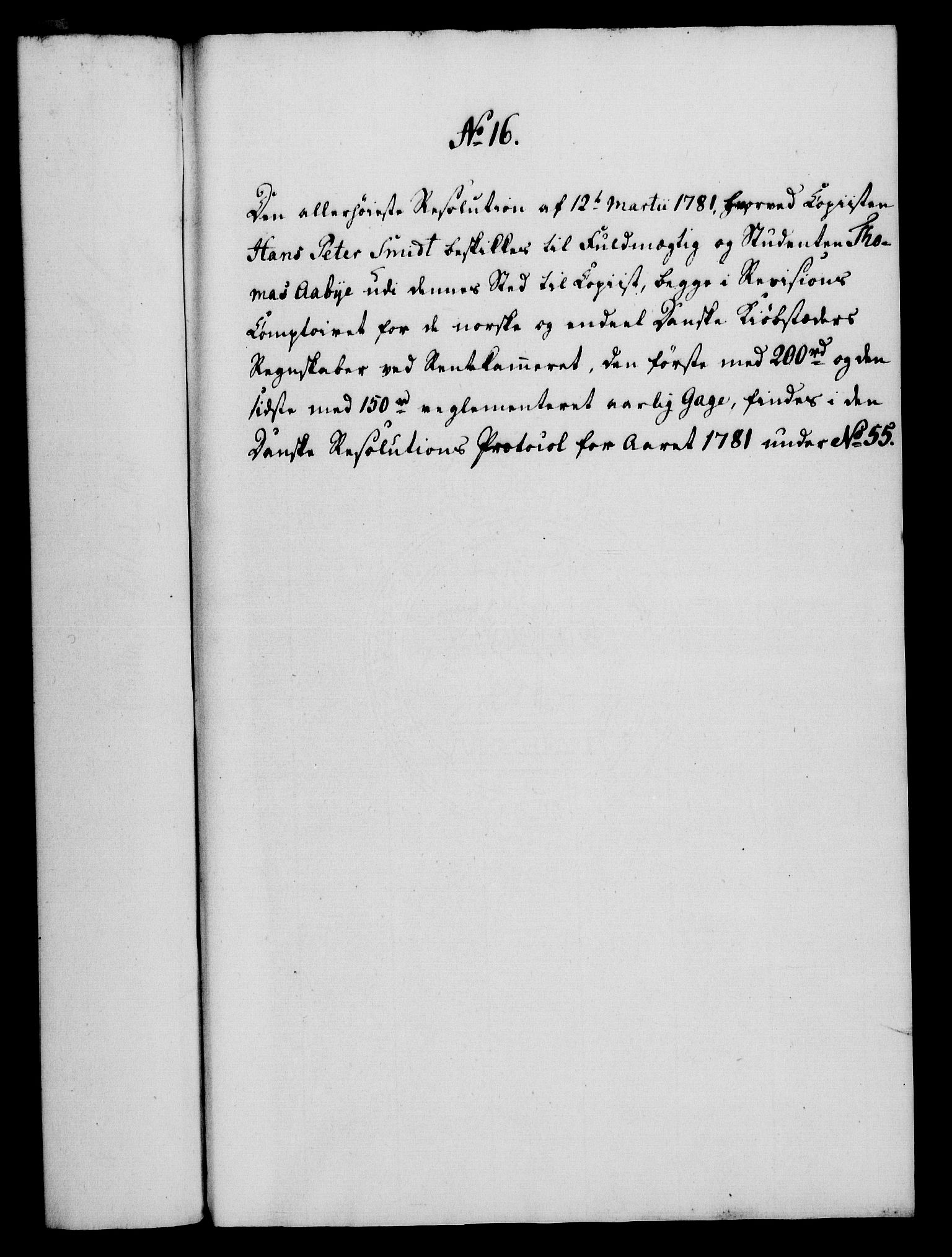 RA, Rentekammeret, Kammerkanselliet, G/Gf/Gfa/L0063: Norsk relasjons- og resolusjonsprotokoll (merket RK 52.63), 1781, s. 122