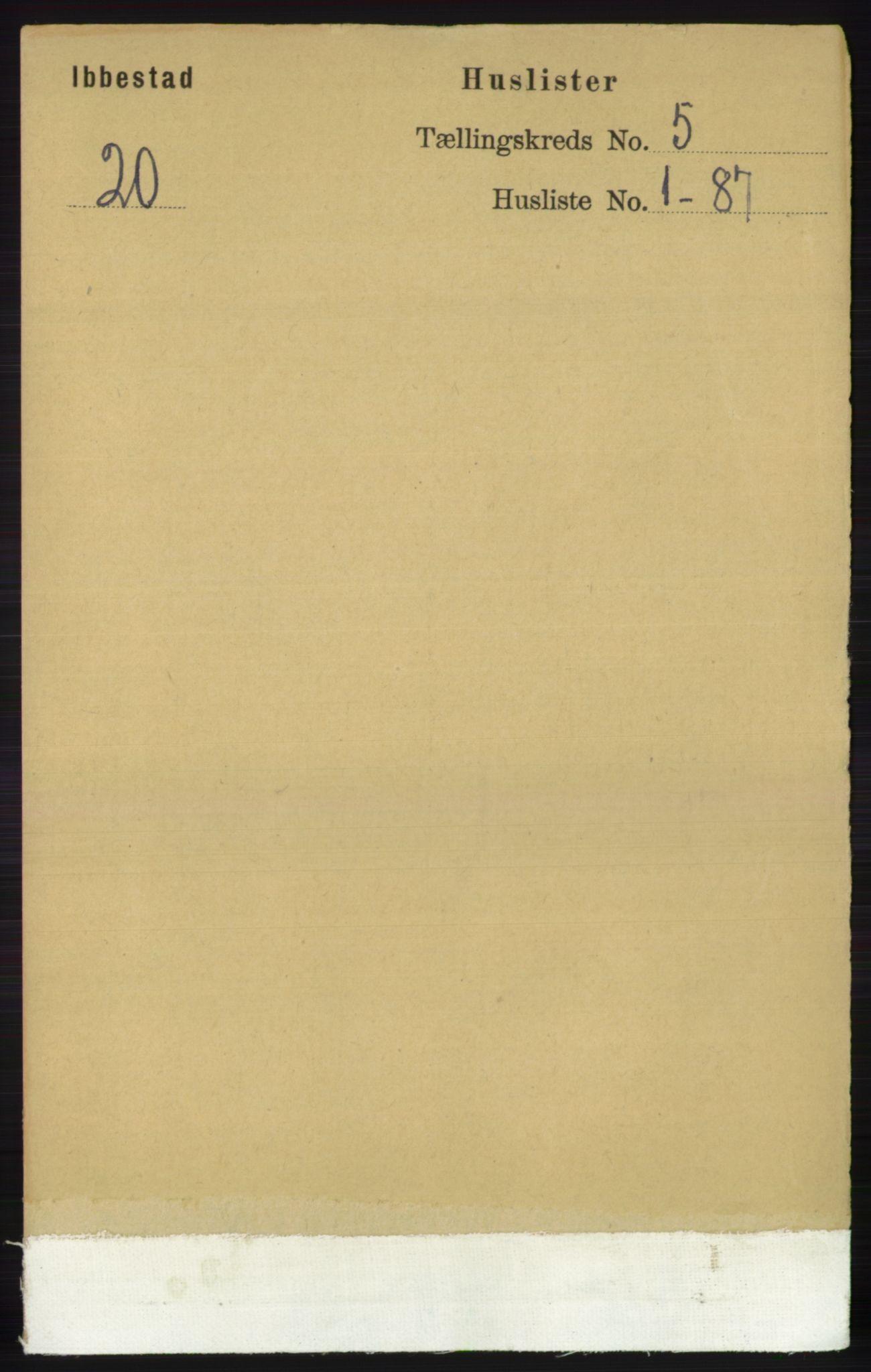 RA, Folketelling 1891 for 1917 Ibestad herred, 1891, s. 2842