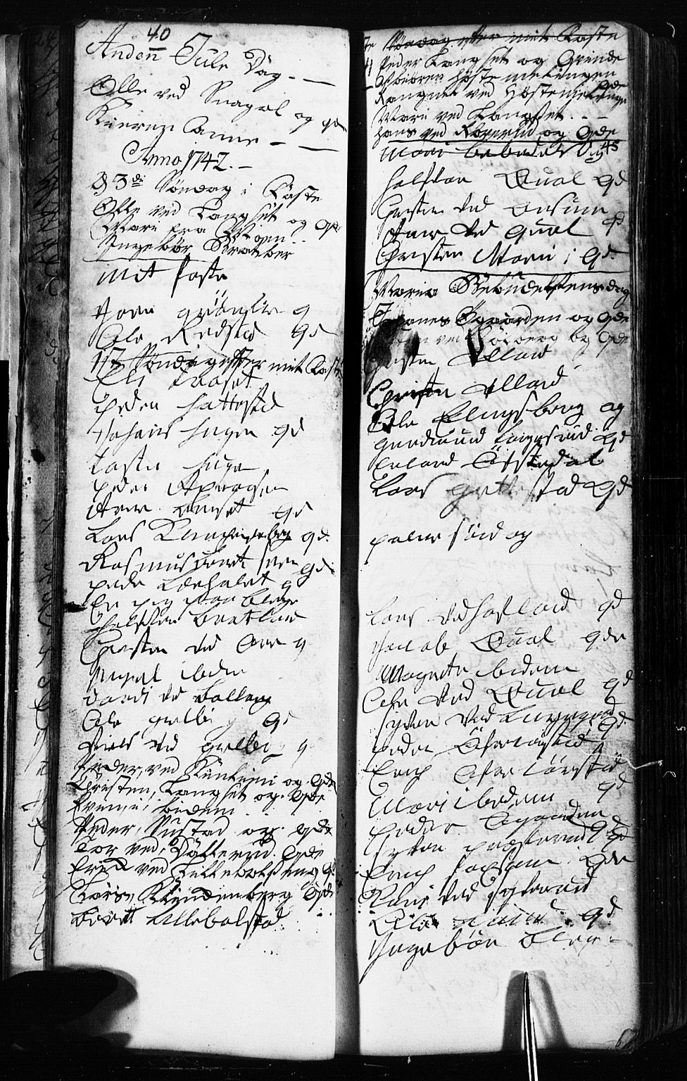 SAH, Fåberg prestekontor, Klokkerbok nr. 2, 1741-1756, s. 40-41
