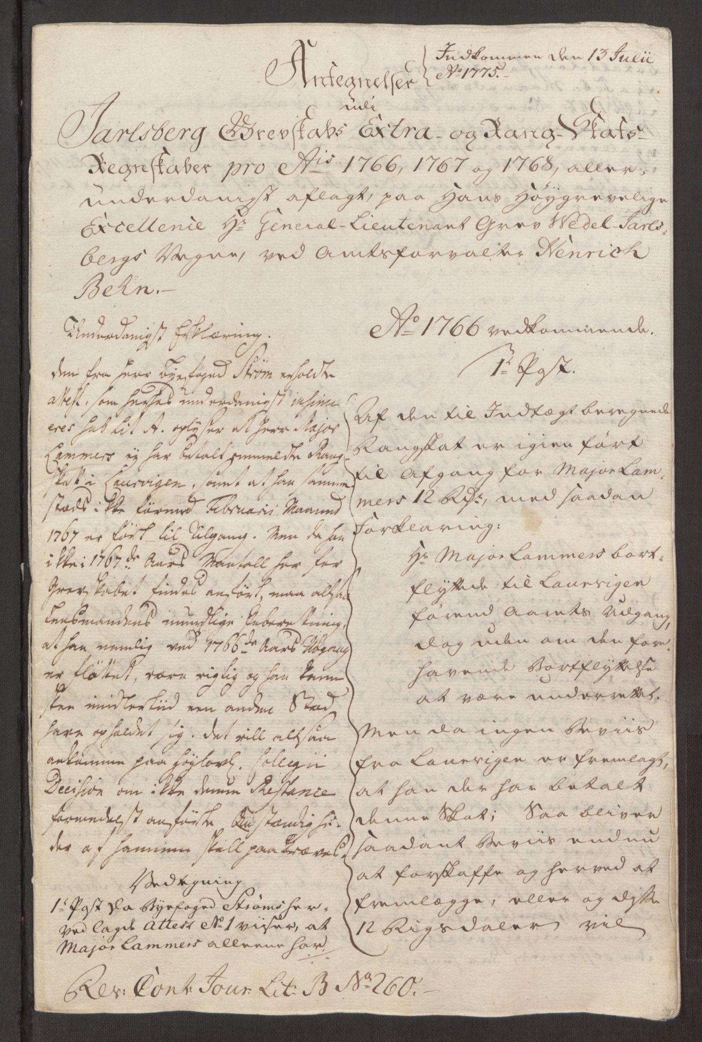 RA, Rentekammeret inntil 1814, Reviderte regnskaper, Fogderegnskap, R32/L1960: Ekstraskatten Jarlsberg grevskap, 1762-1772, s. 154