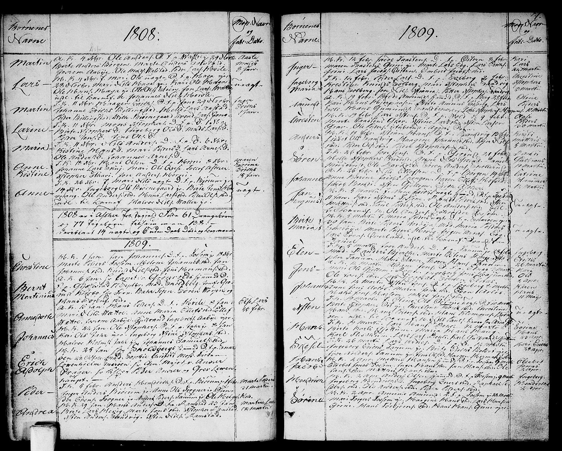 SAO, Asker prestekontor Kirkebøker, F/Fa/L0005: Ministerialbok nr. I 5, 1807-1813, s. 7