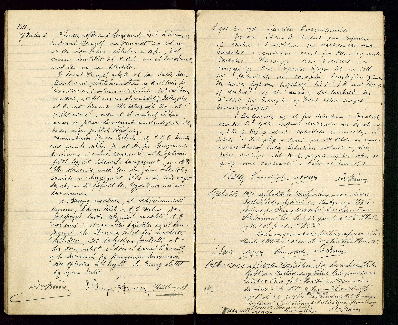 SAST, PA 1533 - A/S Vestlandske Petroleumscompani, A/Aa/L0001: Generalforsamlinger og styreprotokoller, 1907-1915, s. 43