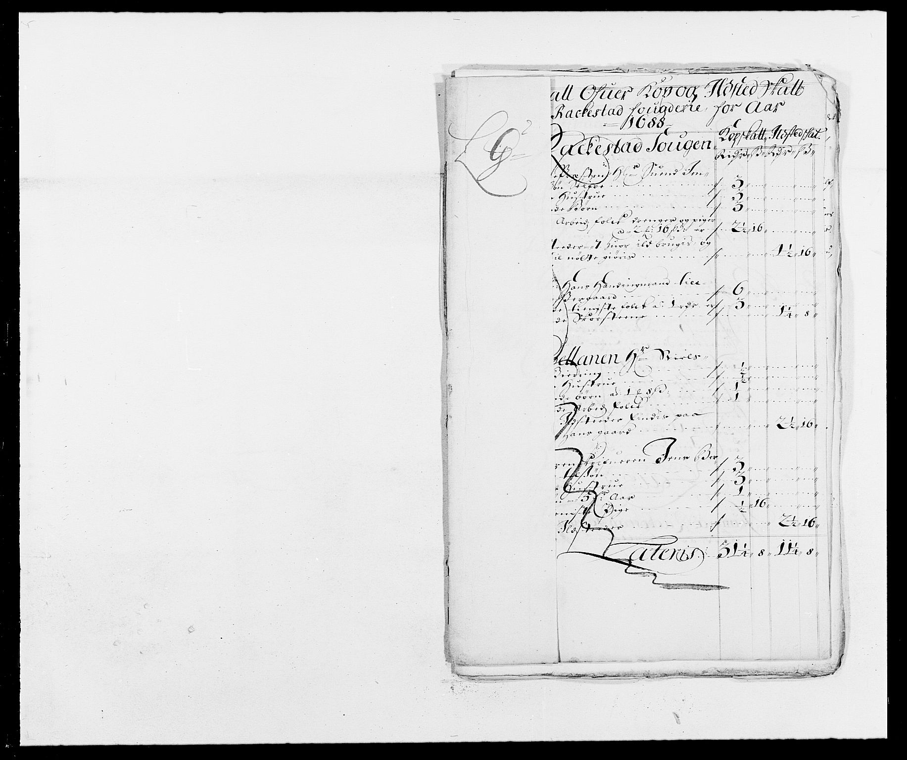 RA, Rentekammeret inntil 1814, Reviderte regnskaper, Fogderegnskap, R05/L0276: Fogderegnskap Rakkestad, 1683-1688, s. 236