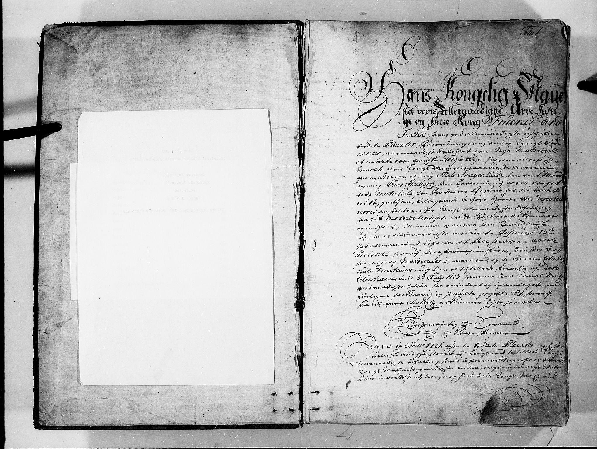 RA, Rentekammeret inntil 1814, Realistisk ordnet avdeling, N/Nb/Nbf/L0150: Sunnmøre eksaminasjonsprotokoll, 1724, s. 1a