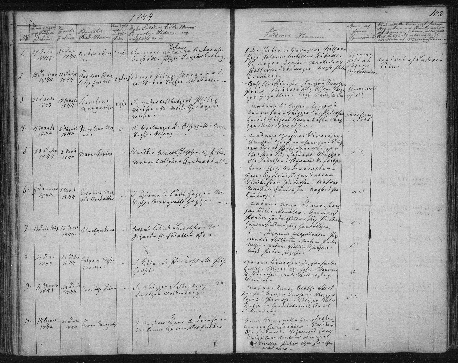 SAKO, Kragerø kirkebøker, F/Fa/L0005: Ministerialbok nr. 5, 1832-1847, s. 102