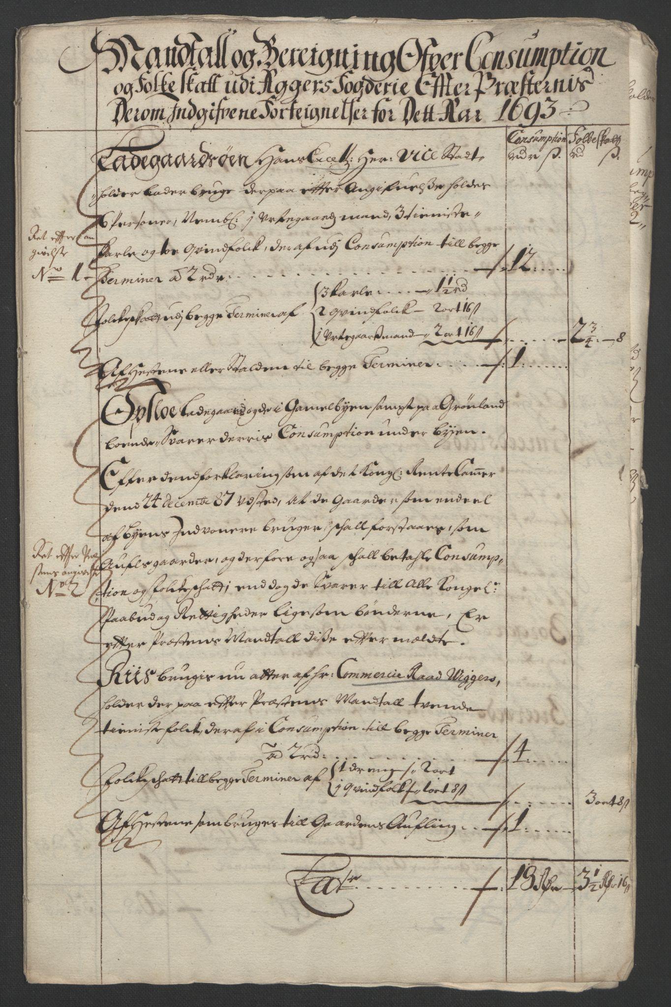 RA, Rentekammeret inntil 1814, Reviderte regnskaper, Fogderegnskap, R08/L0426: Fogderegnskap Aker, 1692-1693, s. 363