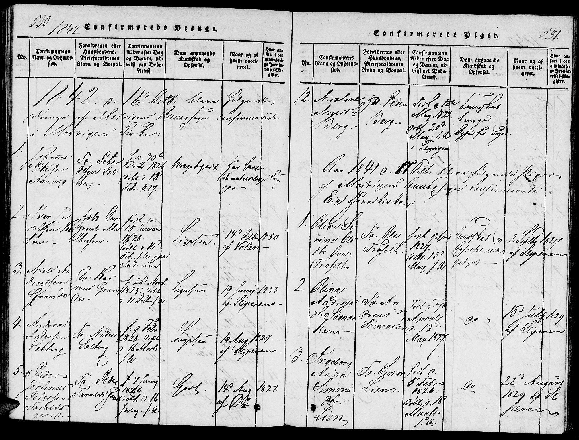 SAT, Ministerialprotokoller, klokkerbøker og fødselsregistre - Nord-Trøndelag, 733/L0322: Ministerialbok nr. 733A01, 1817-1842, s. 530-531