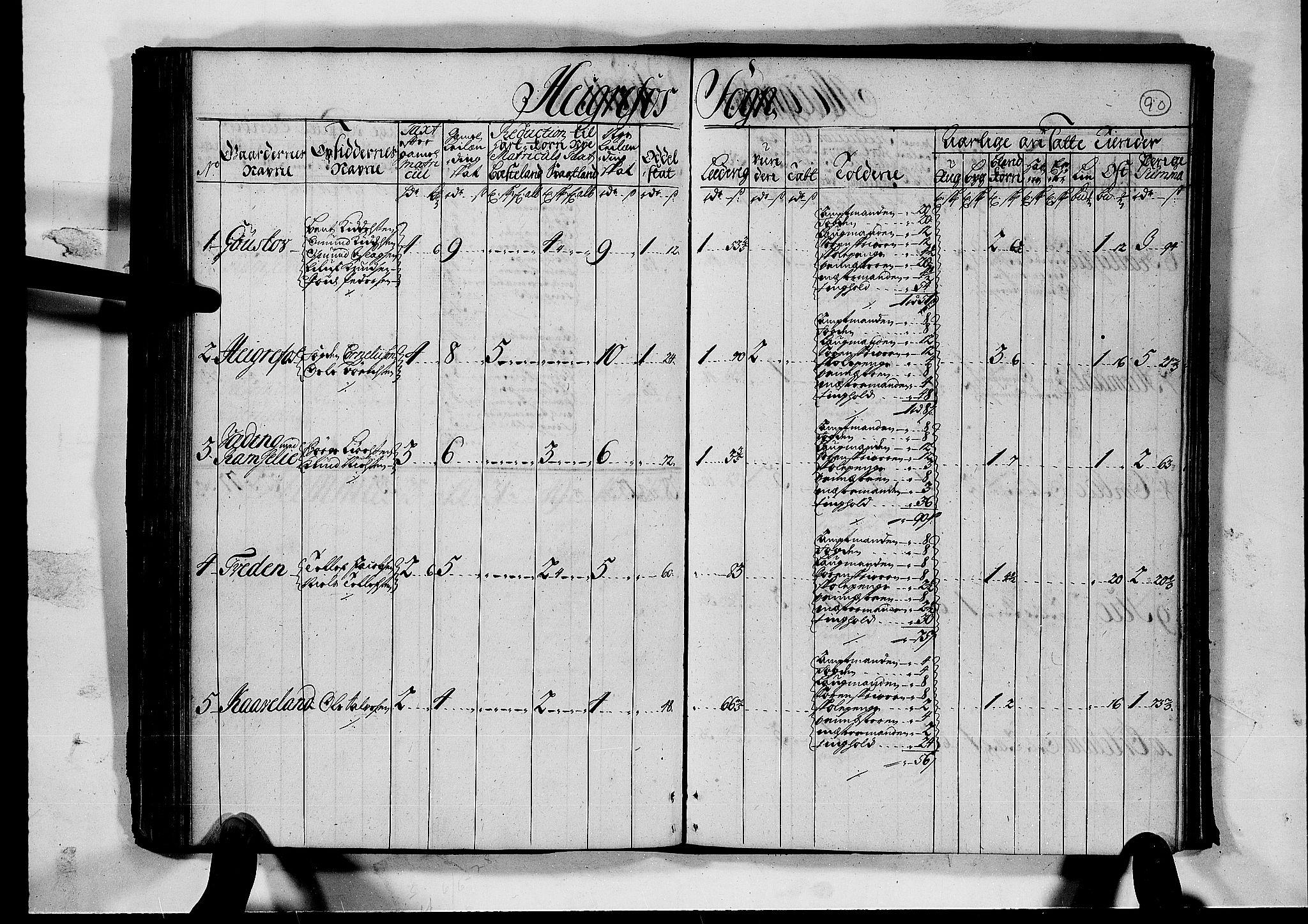 RA, Rentekammeret inntil 1814, Realistisk ordnet avdeling, N/Nb/Nbf/L0126: Råbyggelag matrikkelprotokoll, 1723, s. 89b-90a