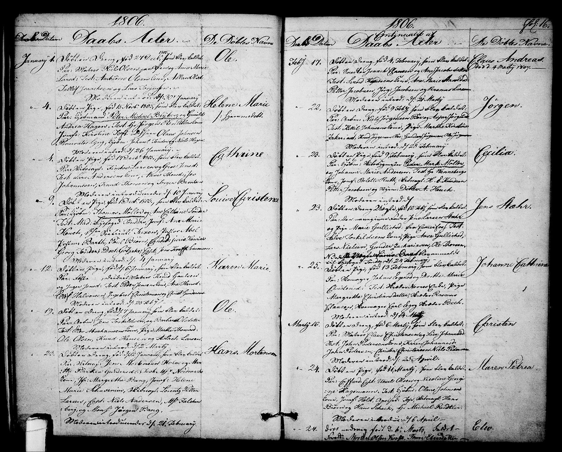 SAKO, Kragerø kirkebøker, F/Fa/L0003: Ministerialbok nr. 3, 1802-1813, s. 16