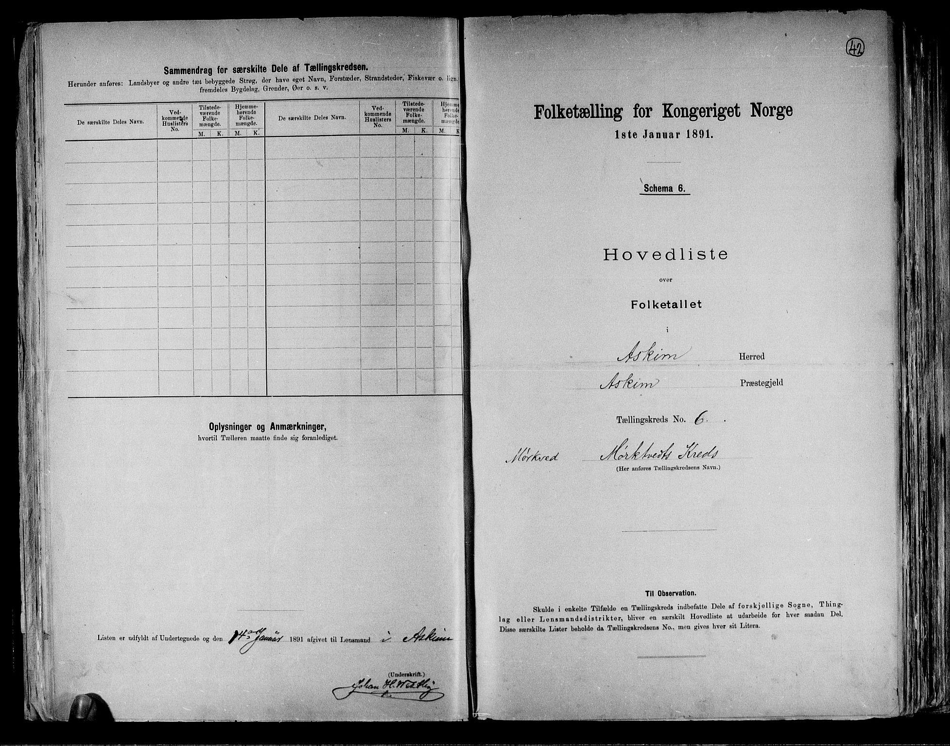 RA, Folketelling 1891 for 0124 Askim herred, 1891, s. 16