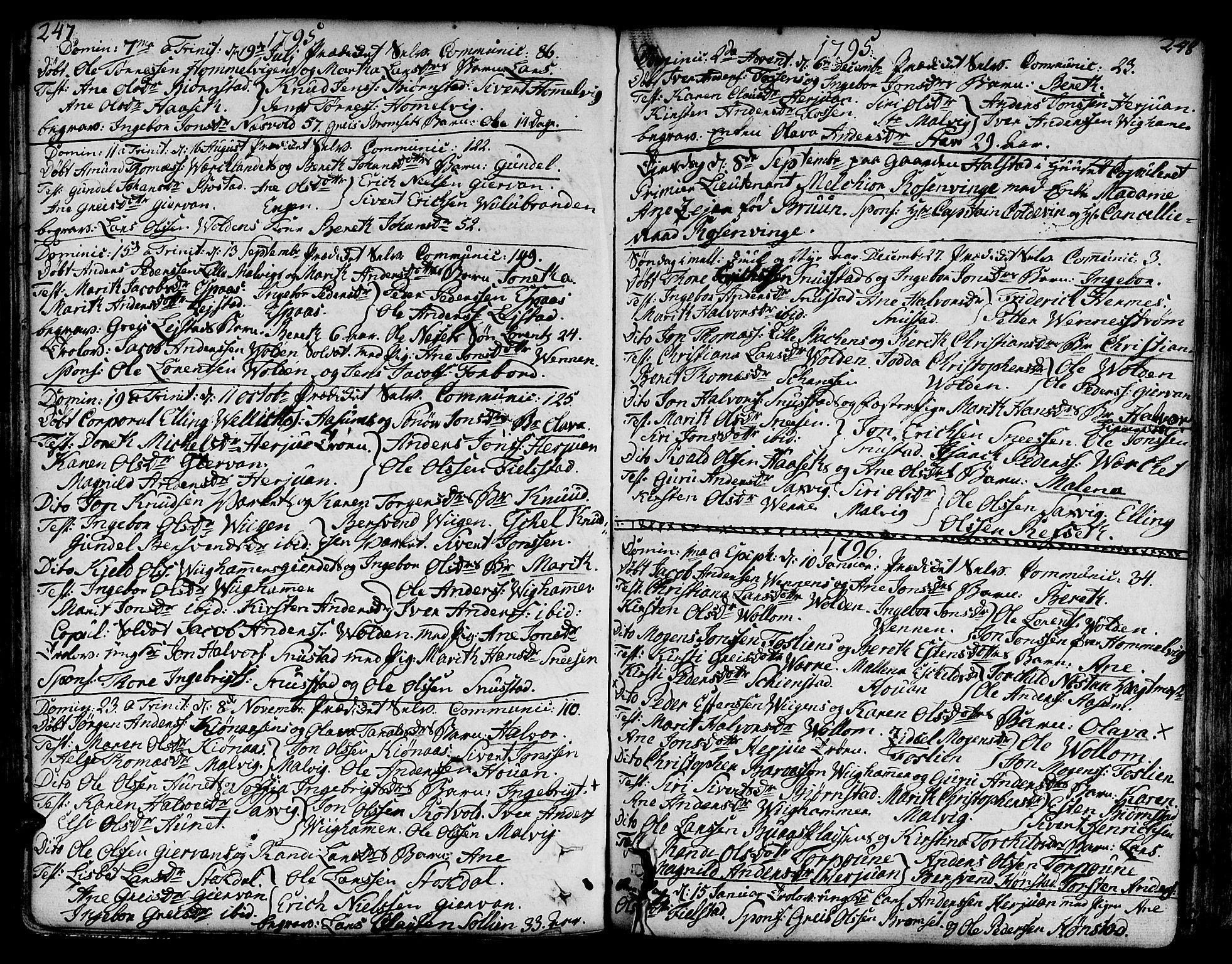SAT, Ministerialprotokoller, klokkerbøker og fødselsregistre - Sør-Trøndelag, 606/L0281: Ministerialbok nr. 606A02 /2, 1781-1817, s. 247-248