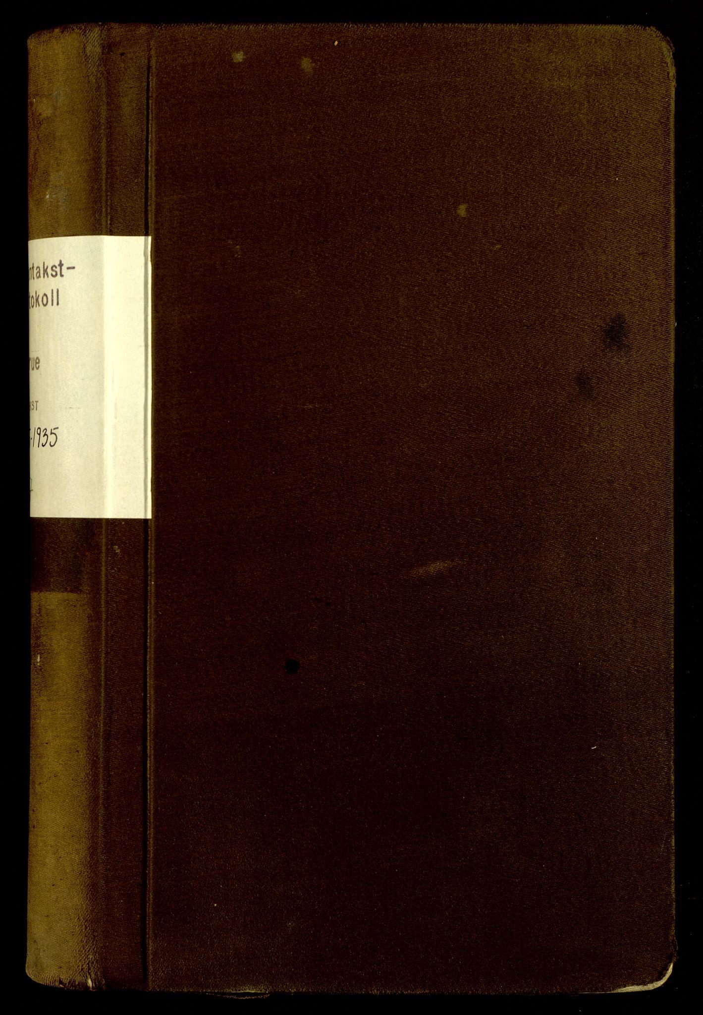 SAH, Norges Brannkasse, Grue, F/L0007: Branntakstprotokoll, 1925-1935