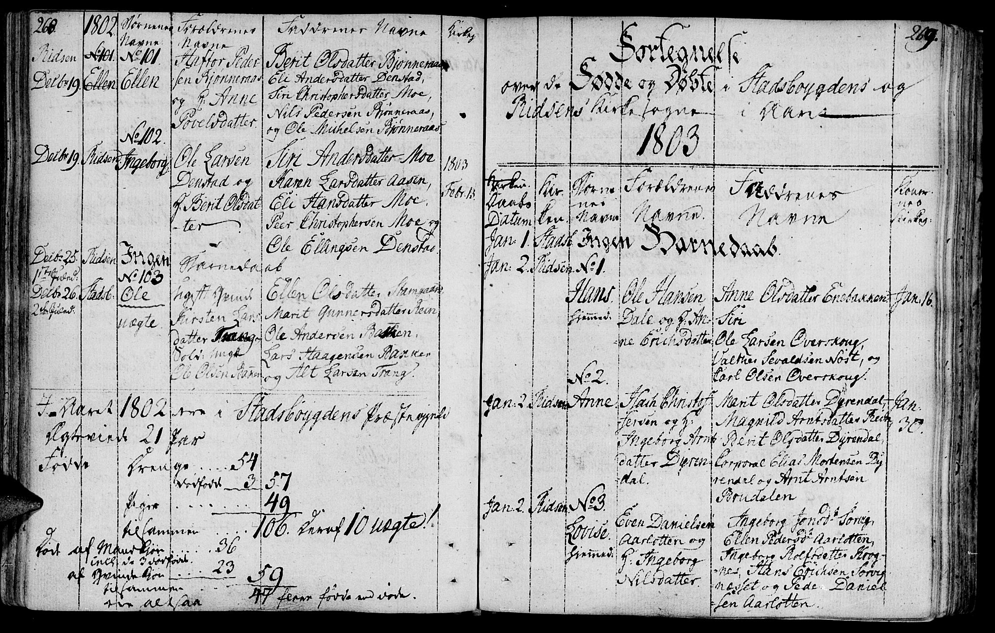 SAT, Ministerialprotokoller, klokkerbøker og fødselsregistre - Sør-Trøndelag, 646/L0606: Ministerialbok nr. 646A04, 1791-1805, s. 268-269