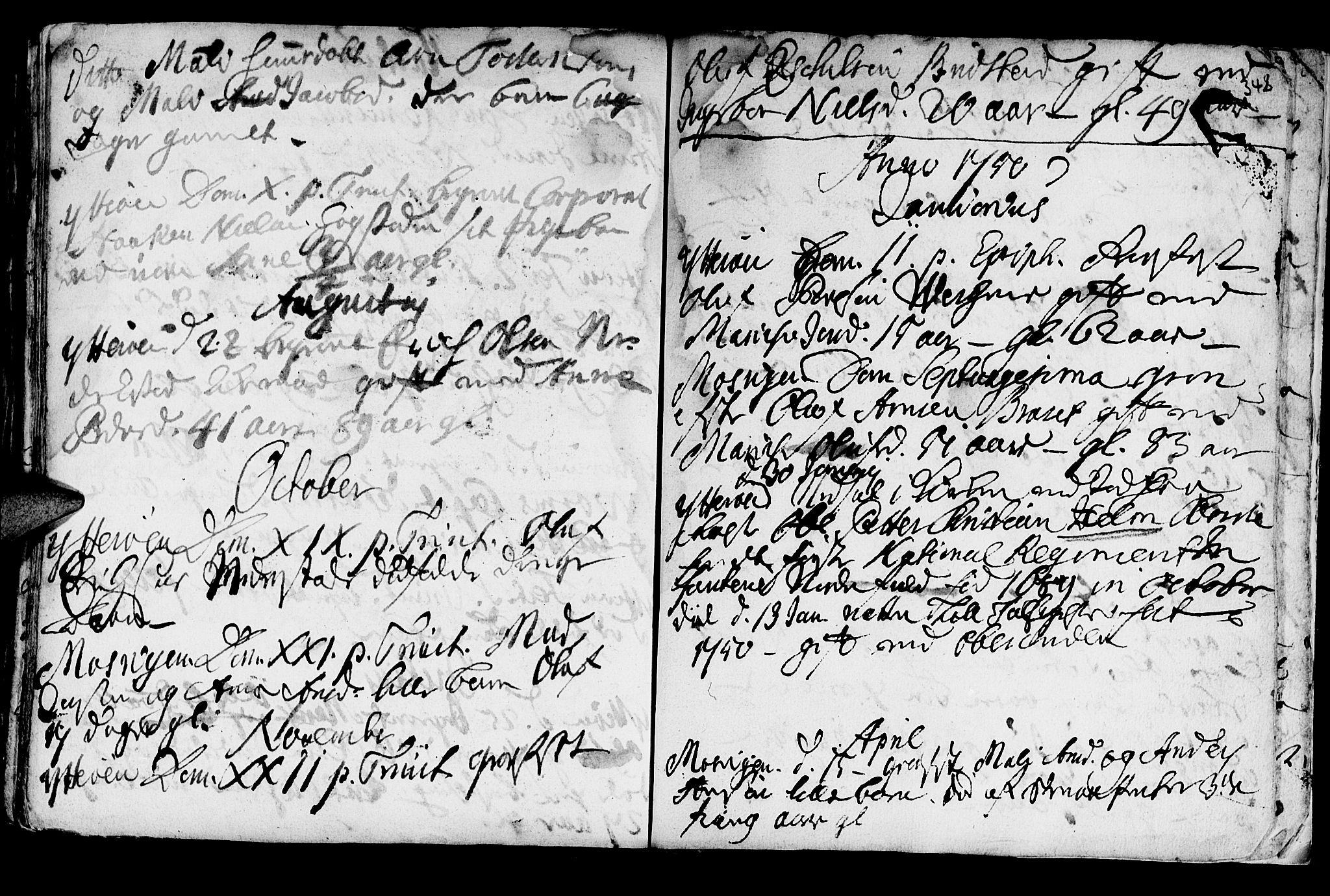 SAT, Ministerialprotokoller, klokkerbøker og fødselsregistre - Nord-Trøndelag, 722/L0215: Ministerialbok nr. 722A02, 1718-1755, s. 348