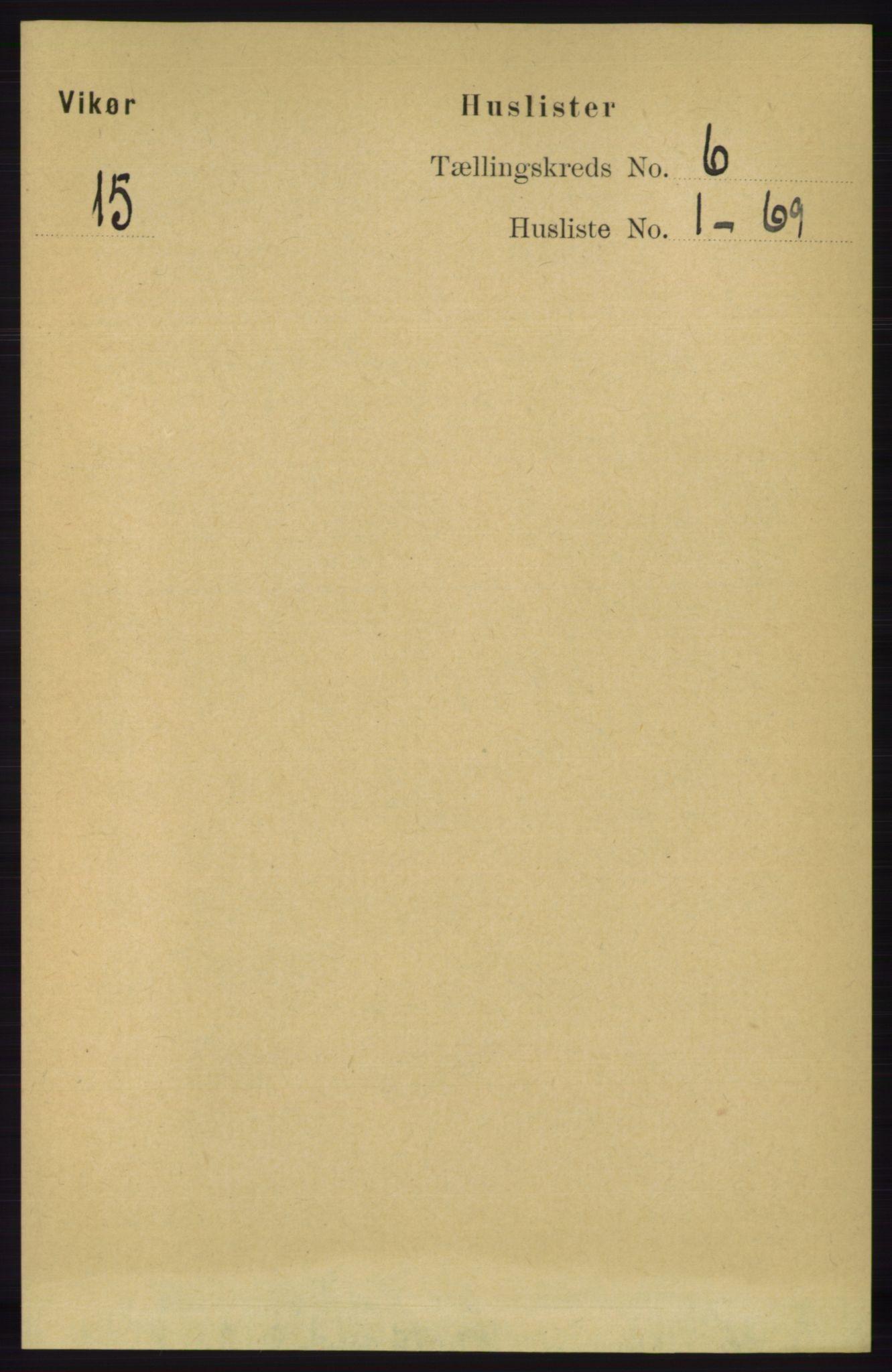 RA, Folketelling 1891 for 1238 Vikør herred, 1891, s. 1740