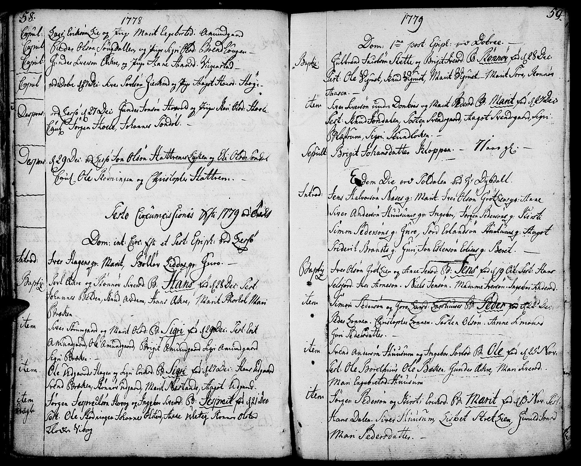 SAH, Lesja prestekontor, Ministerialbok nr. 3, 1777-1819, s. 58-59