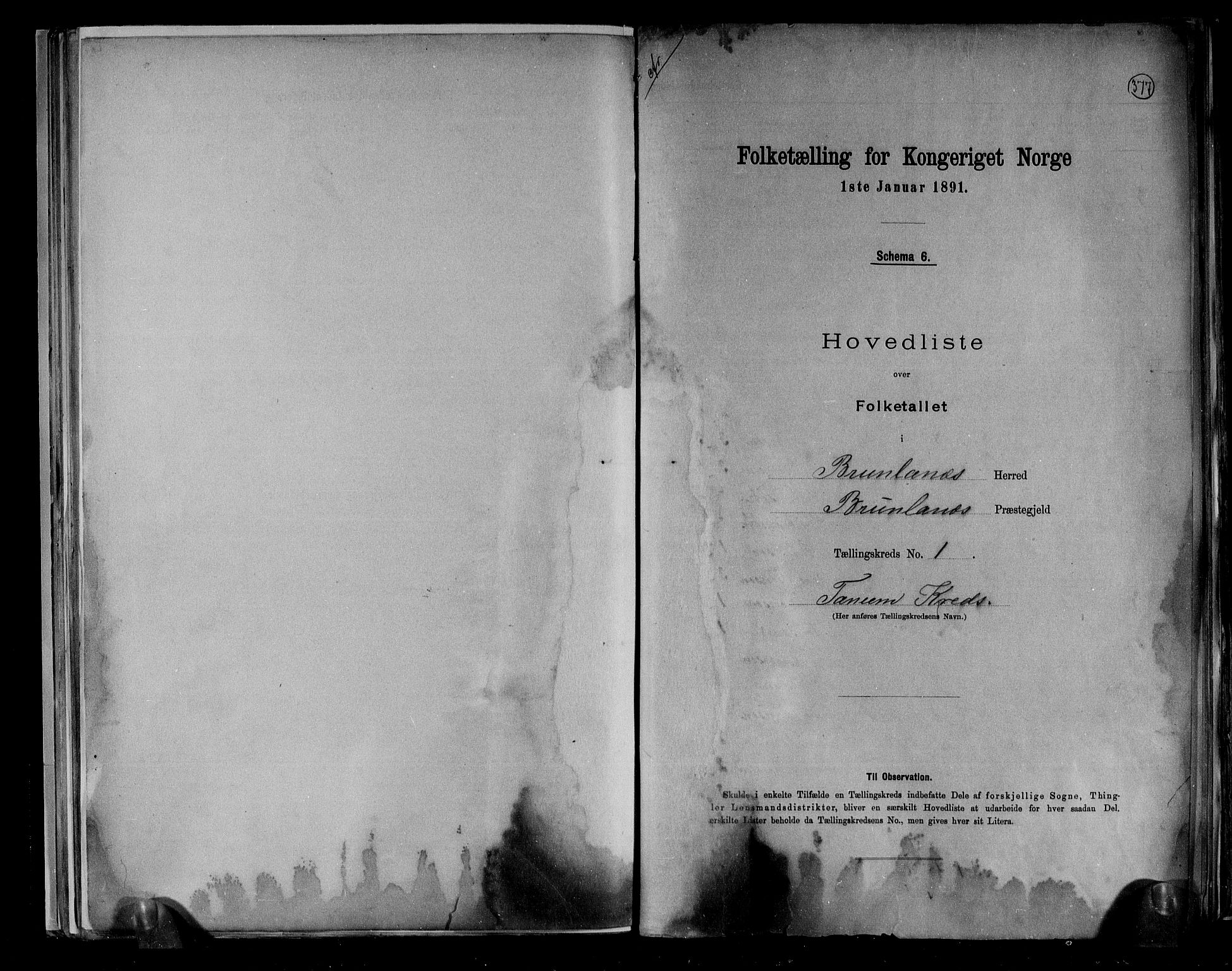 RA, Folketelling 1891 for 0726 Brunlanes herred, 1891, s. 4