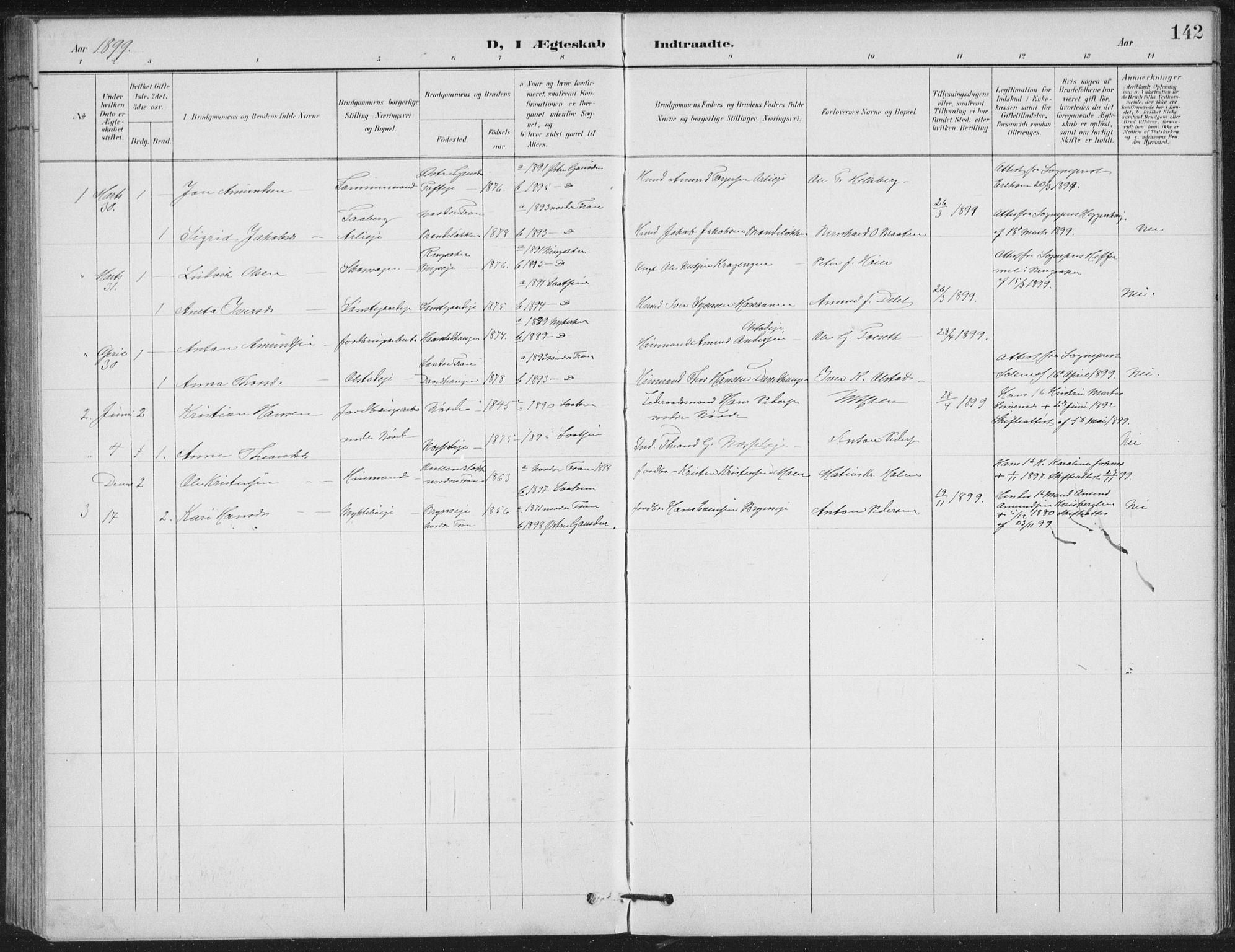 SAH, Vestre Gausdal prestekontor, Klokkerbok nr. 4, 1898-1939, s. 142