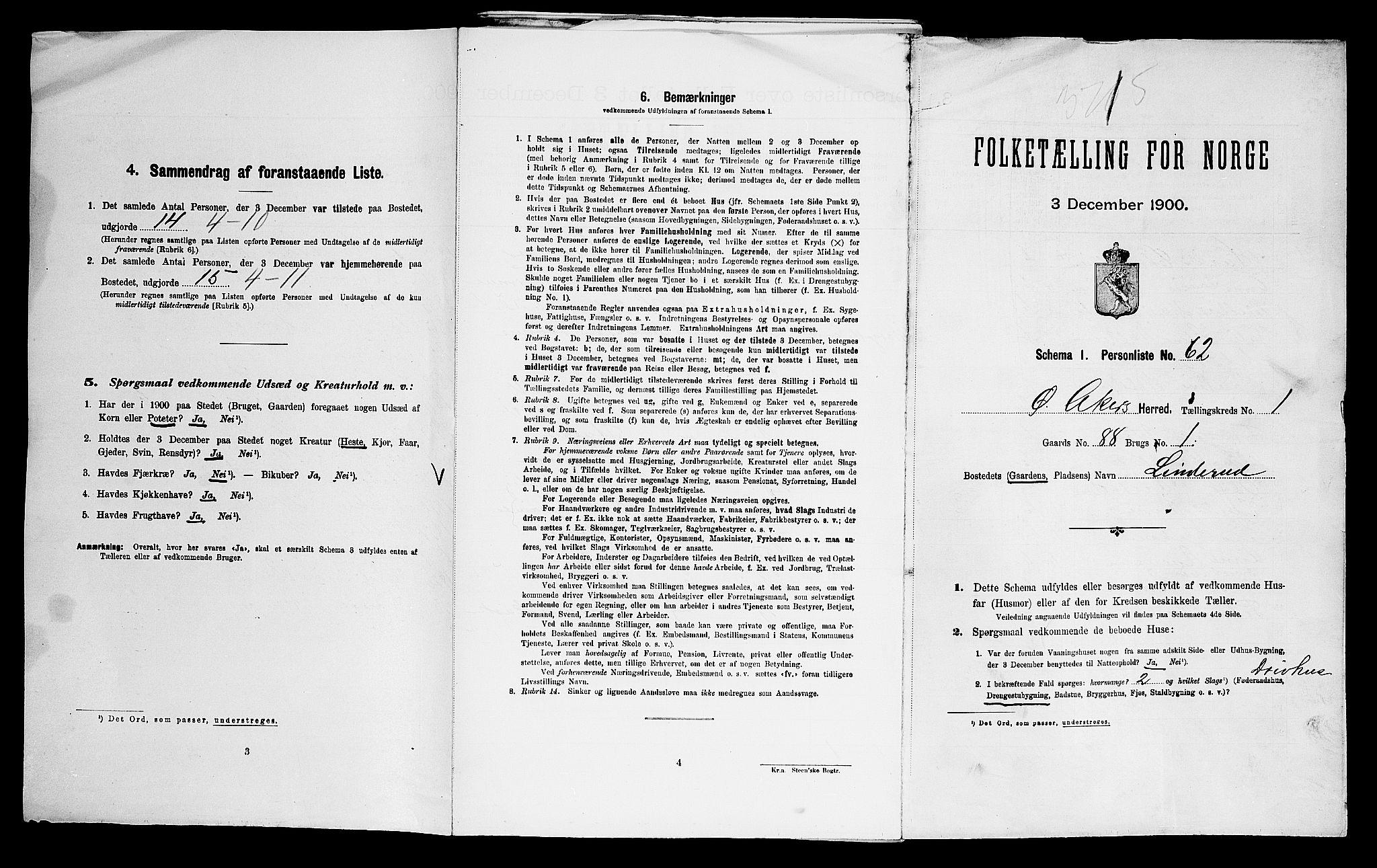 SAO, Folketelling 1900 for 0218 Aker herred, 1900, s. 74