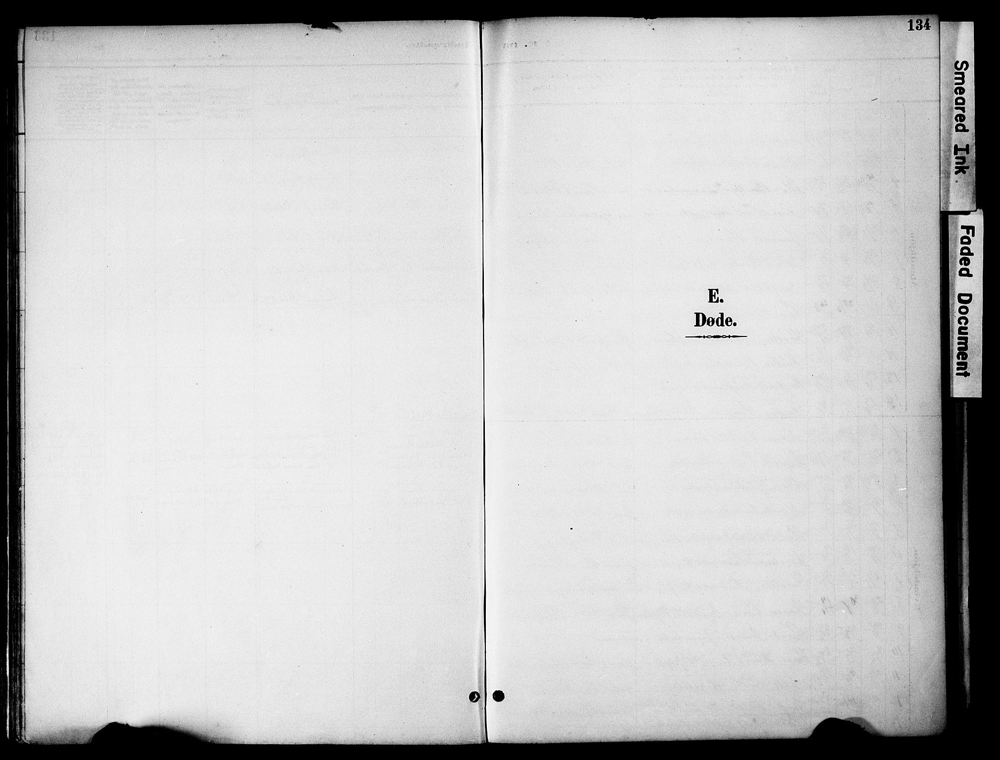 SAH, Gran prestekontor, Ministerialbok nr. 20, 1889-1899, s. 134
