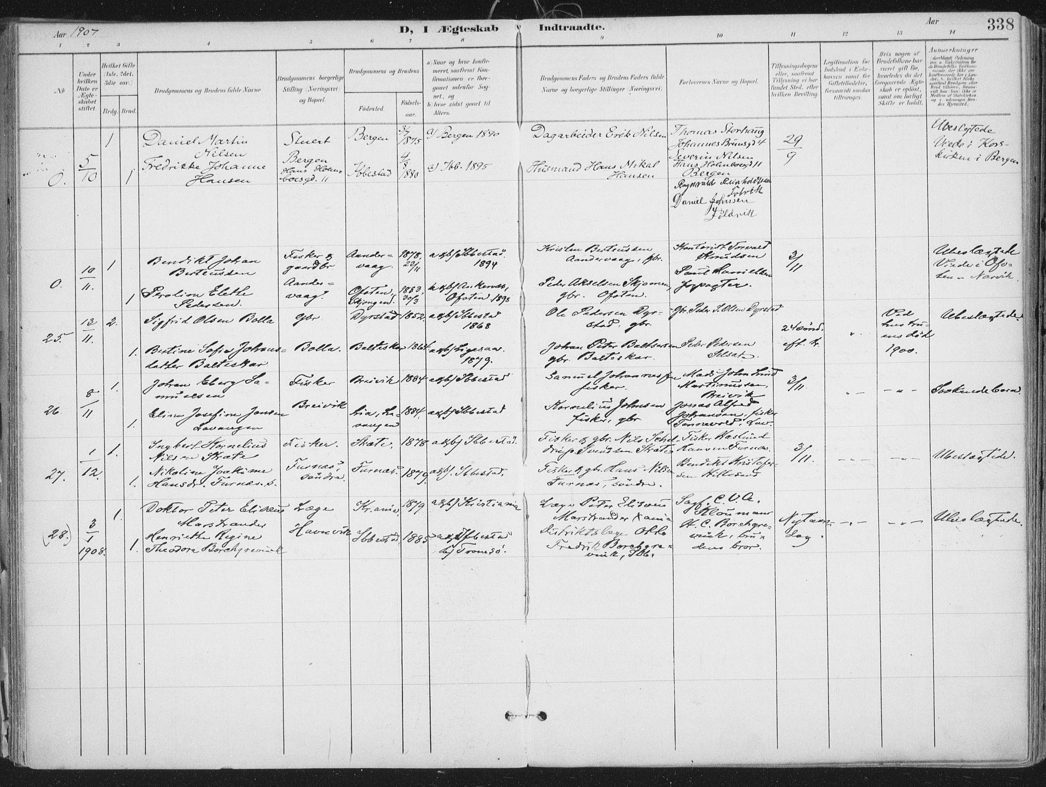 SATØ, Ibestad sokneprestembete, Ministerialbok nr. 17, 1901-1914, s. 338