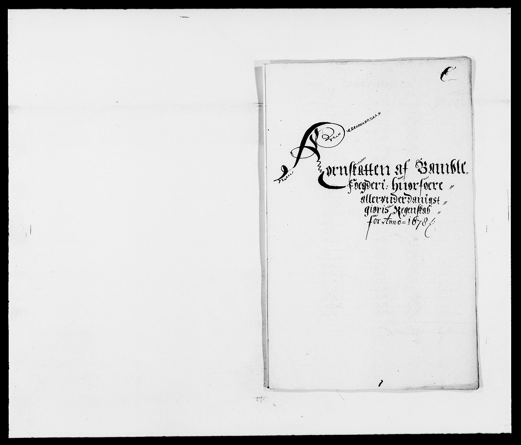 RA, Rentekammeret inntil 1814, Reviderte regnskaper, Fogderegnskap, R34/L2044: Fogderegnskap Bamble, 1678-1679, s. 70