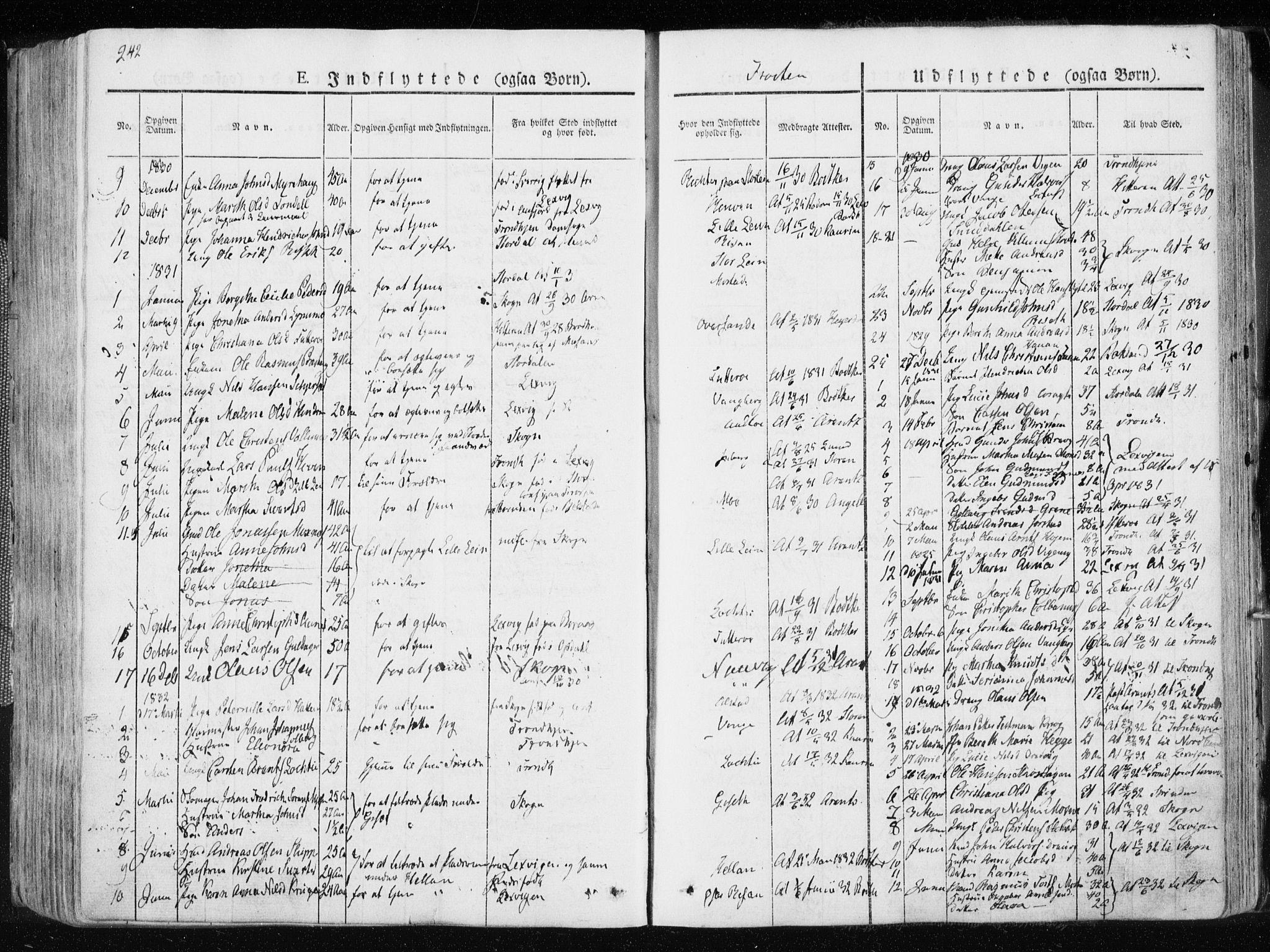SAT, Ministerialprotokoller, klokkerbøker og fødselsregistre - Nord-Trøndelag, 713/L0114: Ministerialbok nr. 713A05, 1827-1839, s. 242