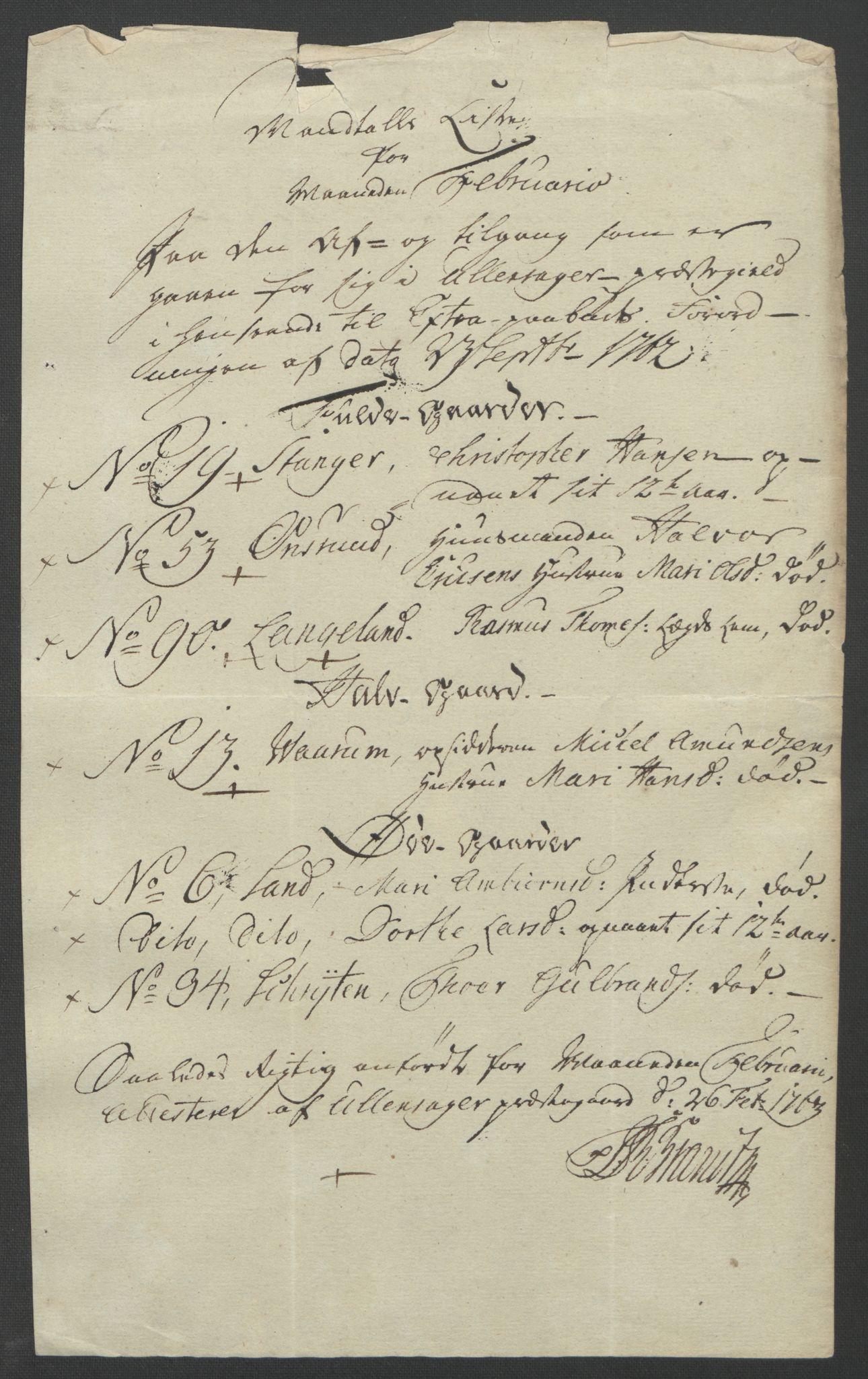 RA, Rentekammeret inntil 1814, Reviderte regnskaper, Fogderegnskap, R12/L0802: Ekstraskatten Øvre Romerike, 1762, s. 308