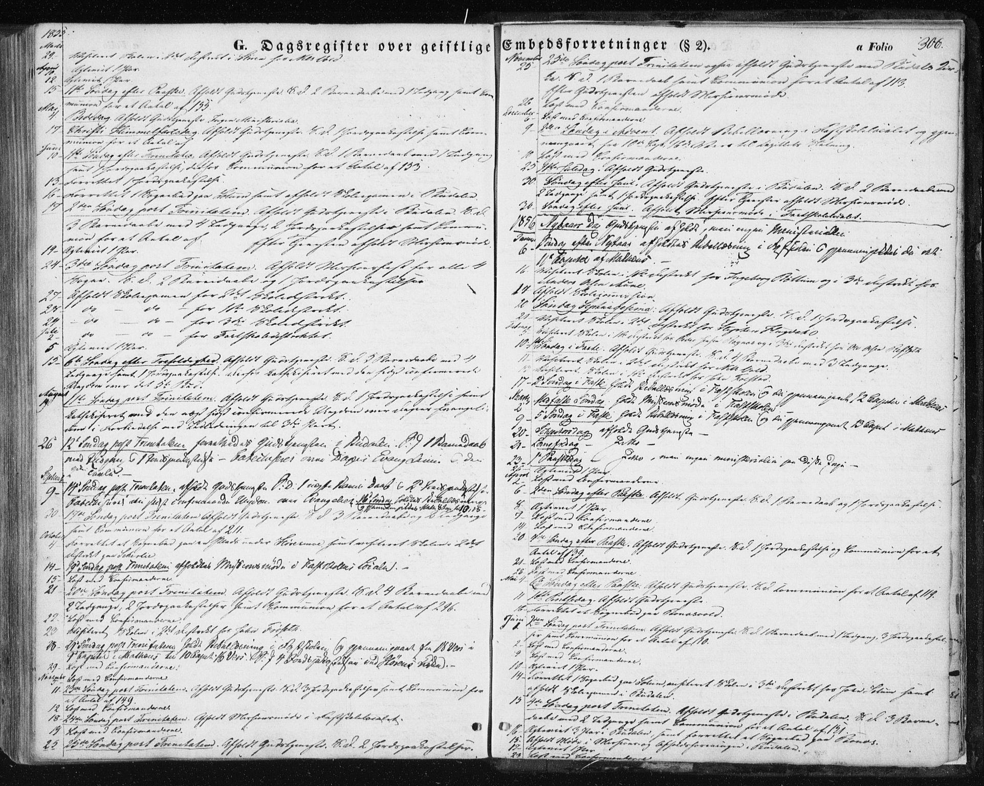 SAT, Ministerialprotokoller, klokkerbøker og fødselsregistre - Sør-Trøndelag, 687/L1000: Ministerialbok nr. 687A06, 1848-1869, s. 306