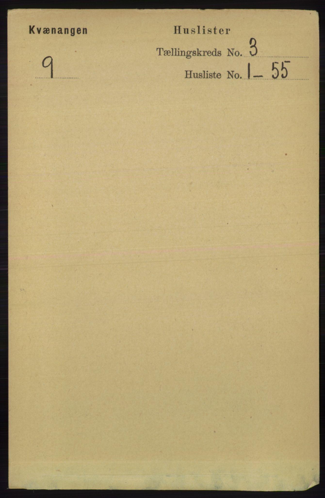 RA, Folketelling 1891 for 1943 Kvænangen herred, 1891, s. 1008