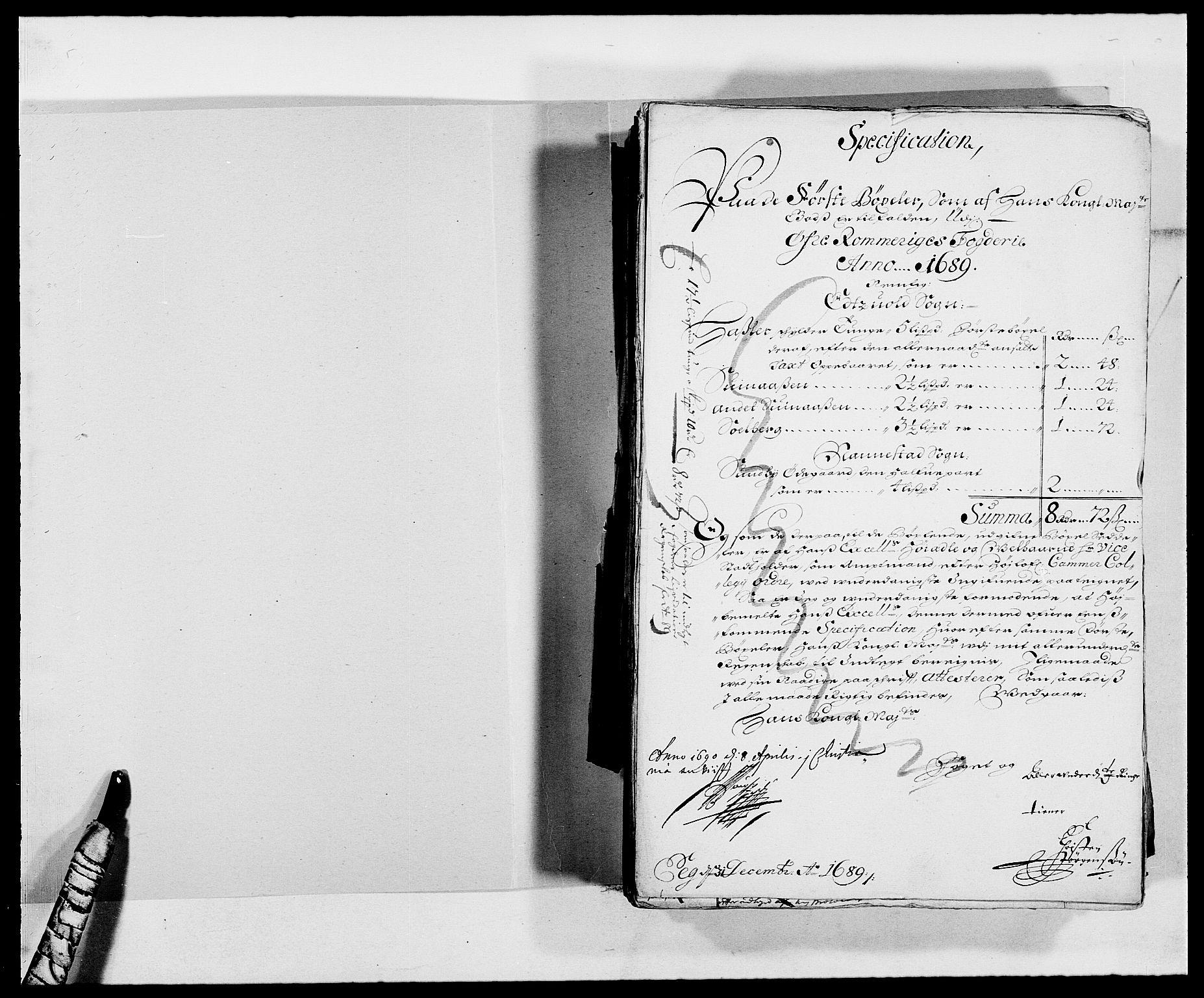 RA, Rentekammeret inntil 1814, Reviderte regnskaper, Fogderegnskap, R12/L0701: Fogderegnskap Øvre Romerike, 1689, s. 21