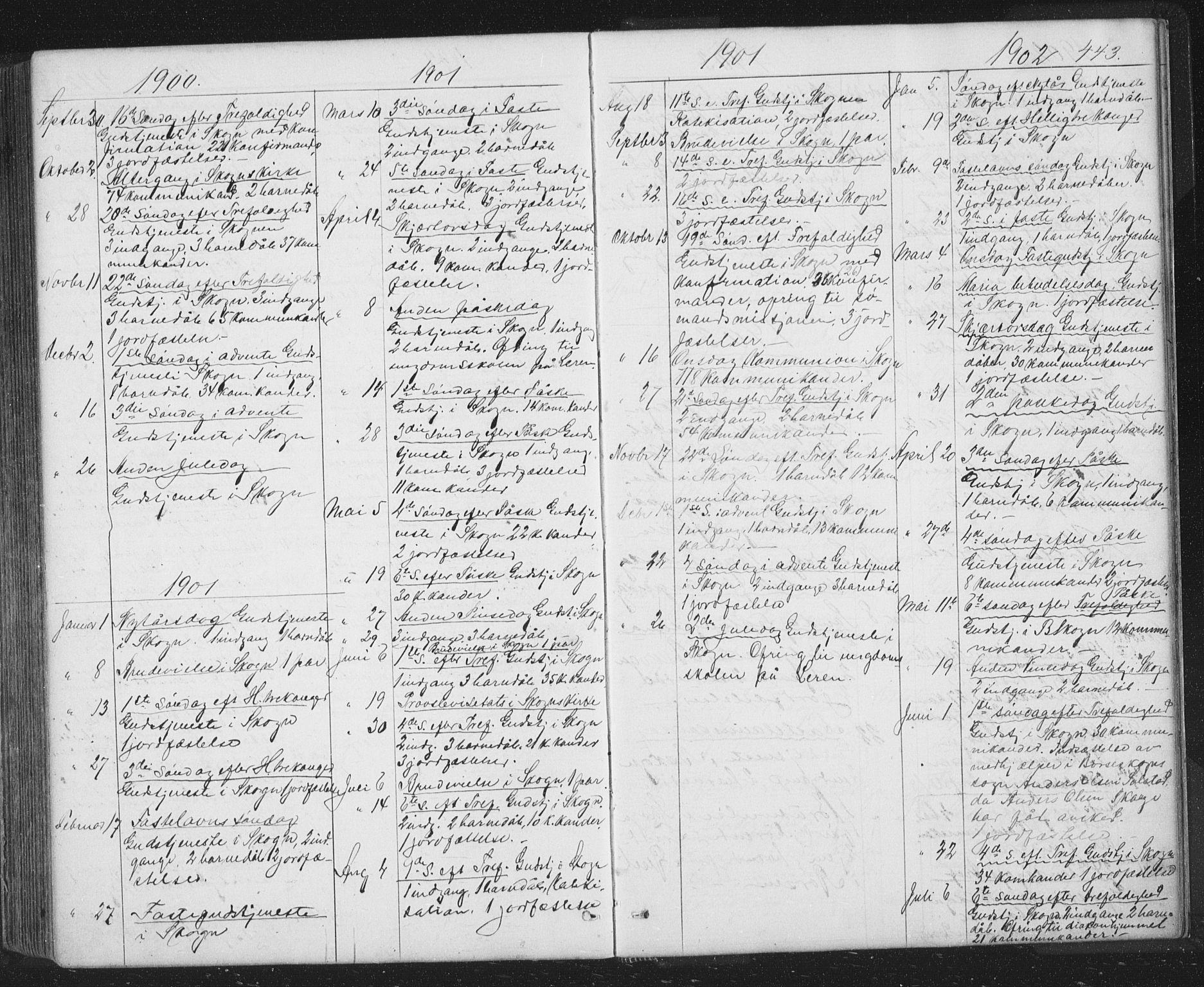 SAT, Ministerialprotokoller, klokkerbøker og fødselsregistre - Sør-Trøndelag, 667/L0798: Klokkerbok nr. 667C03, 1867-1929, s. 443