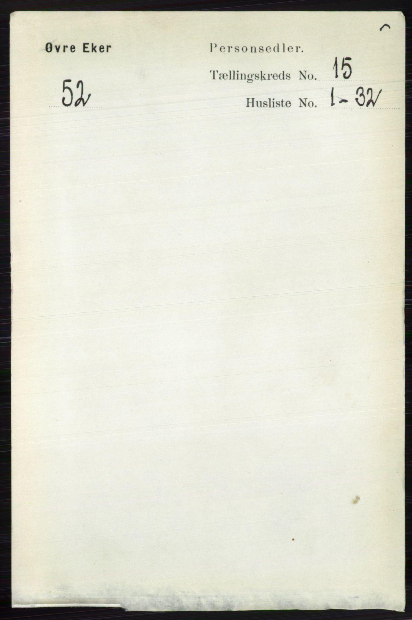 RA, Folketelling 1891 for 0624 Øvre Eiker herred, 1891, s. 7050