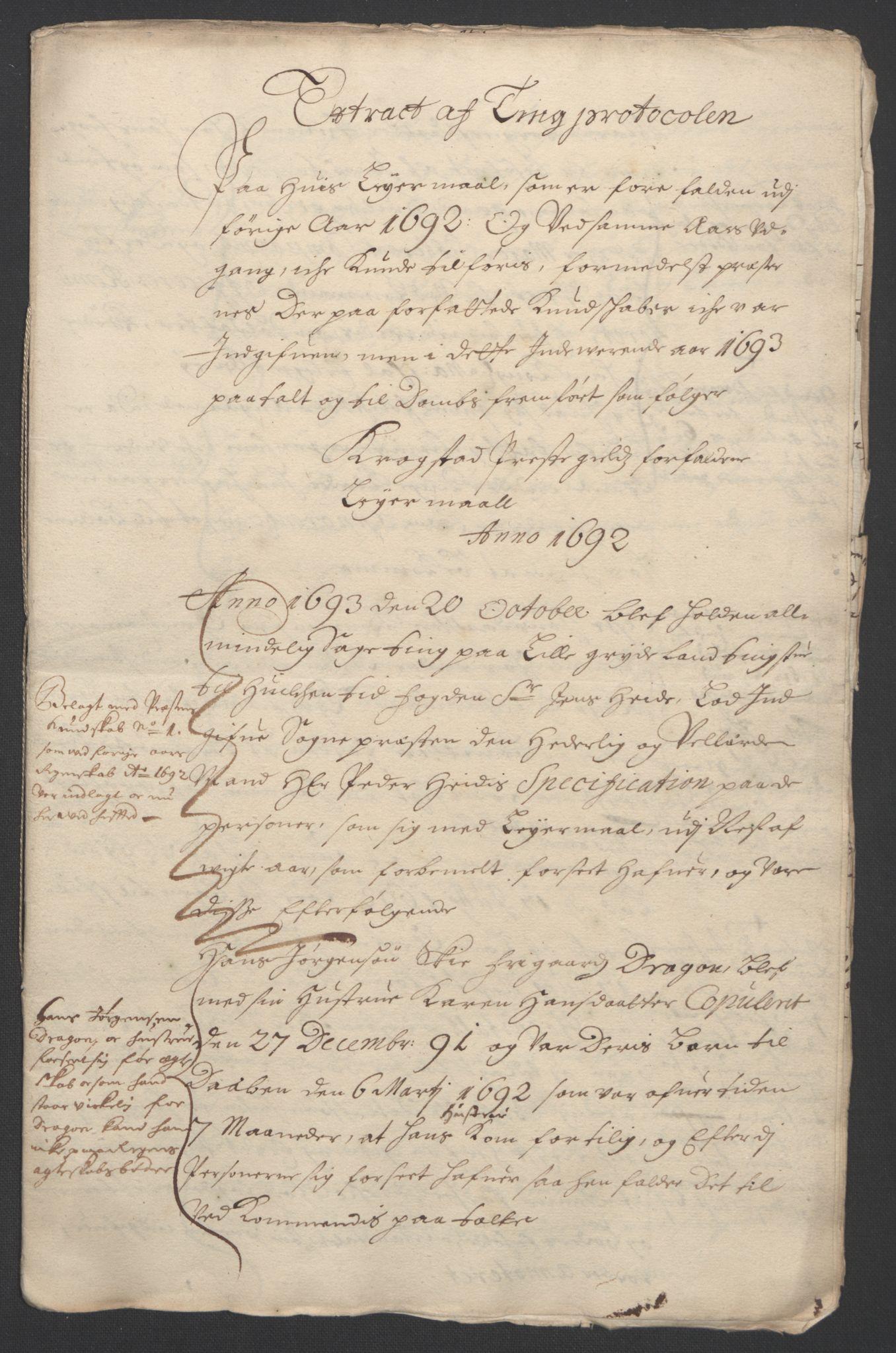 RA, Rentekammeret inntil 1814, Reviderte regnskaper, Fogderegnskap, R09/L0437: Fogderegnskap Follo, 1692-1693, s. 236